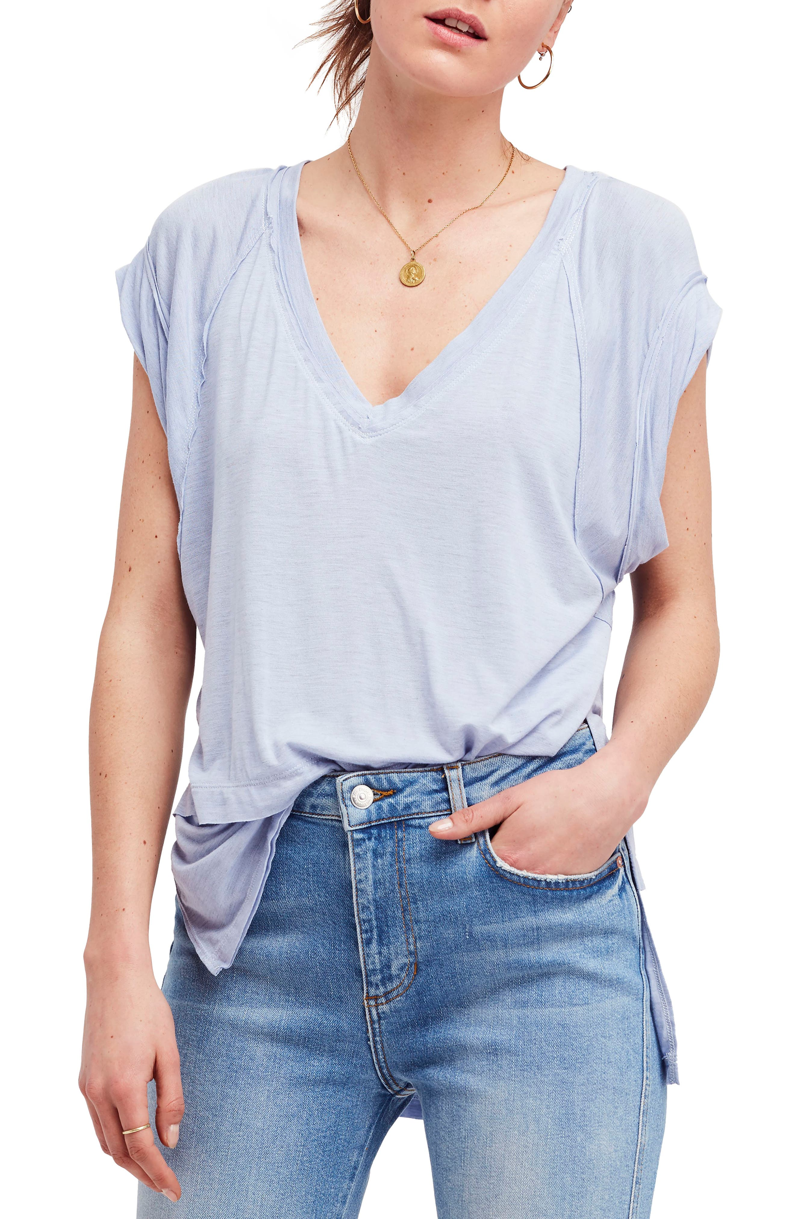 We the Free by Free People Voyage Tee,                             Main thumbnail 3, color,