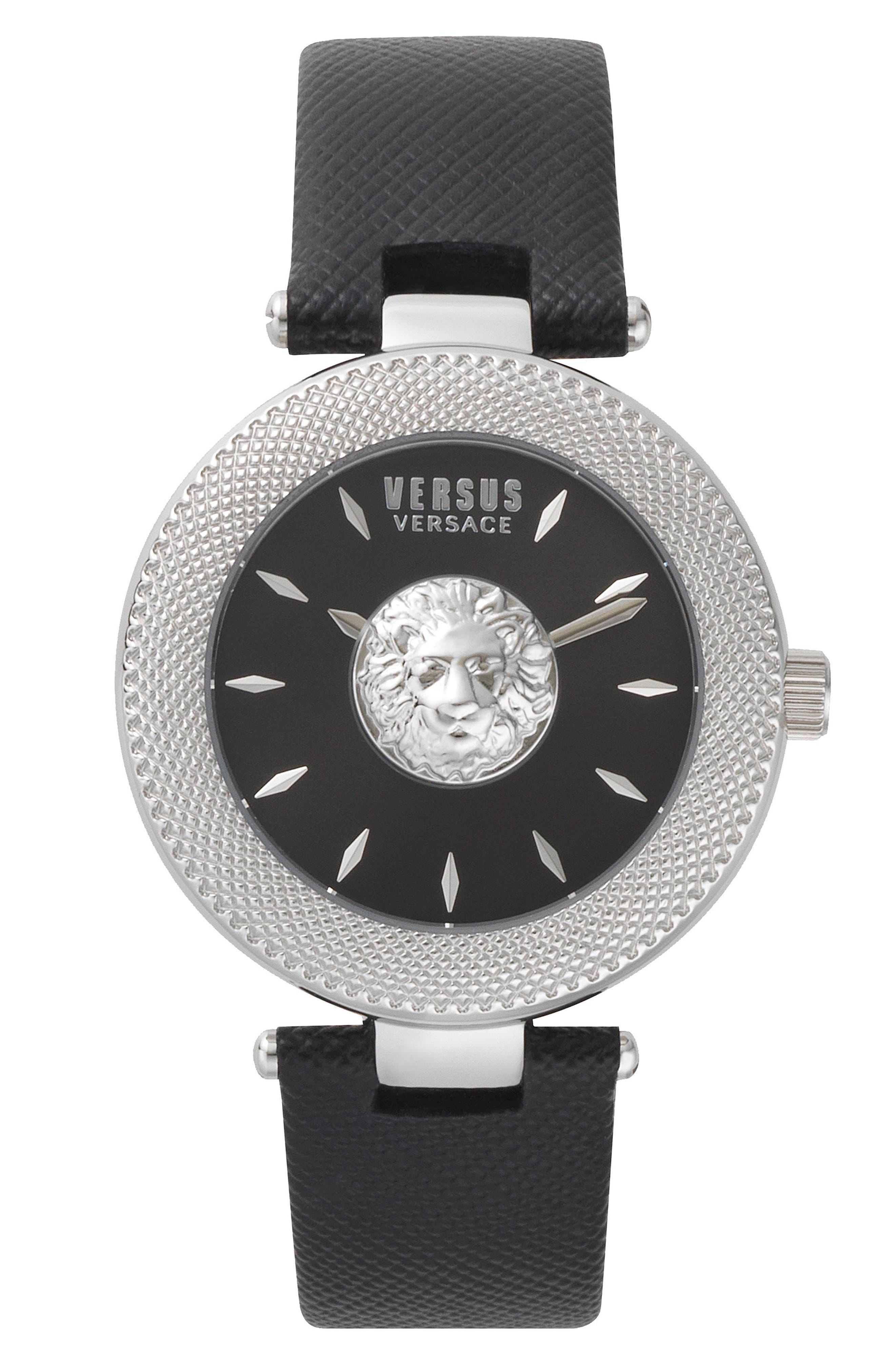 Brick Lane Leather Strap Watch, 40mm,                             Main thumbnail 1, color,                             001