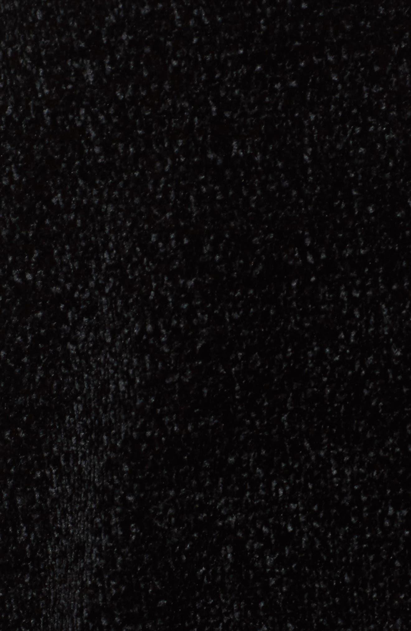 Oversize V-Neck Sweater,                             Alternate thumbnail 5, color,                             BLACK/ MED. HEATHER GREY