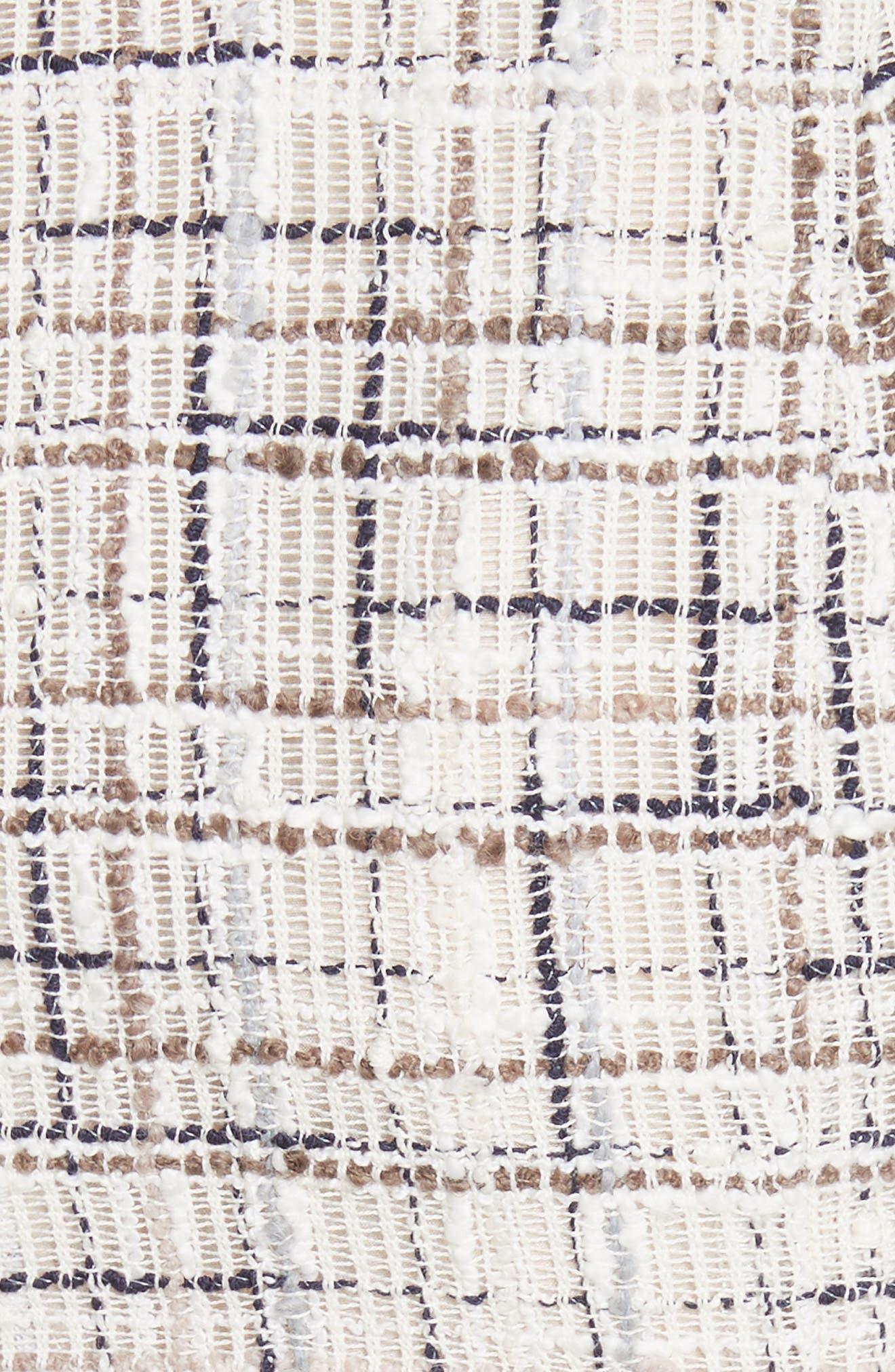 Draped Tweed Dress,                             Alternate thumbnail 5, color,