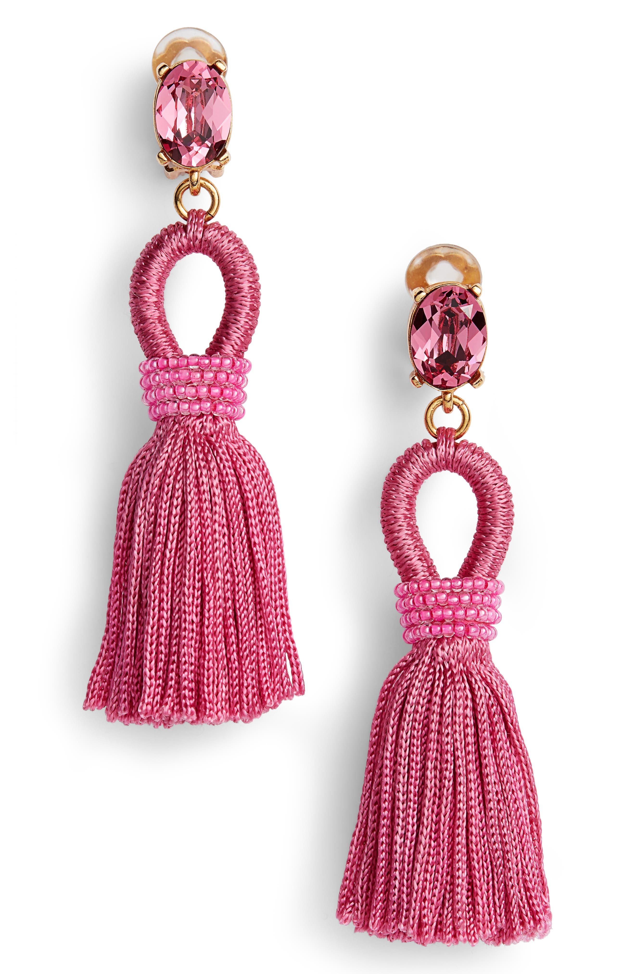 Silk Tassel Drop Earrings,                             Main thumbnail 2, color,