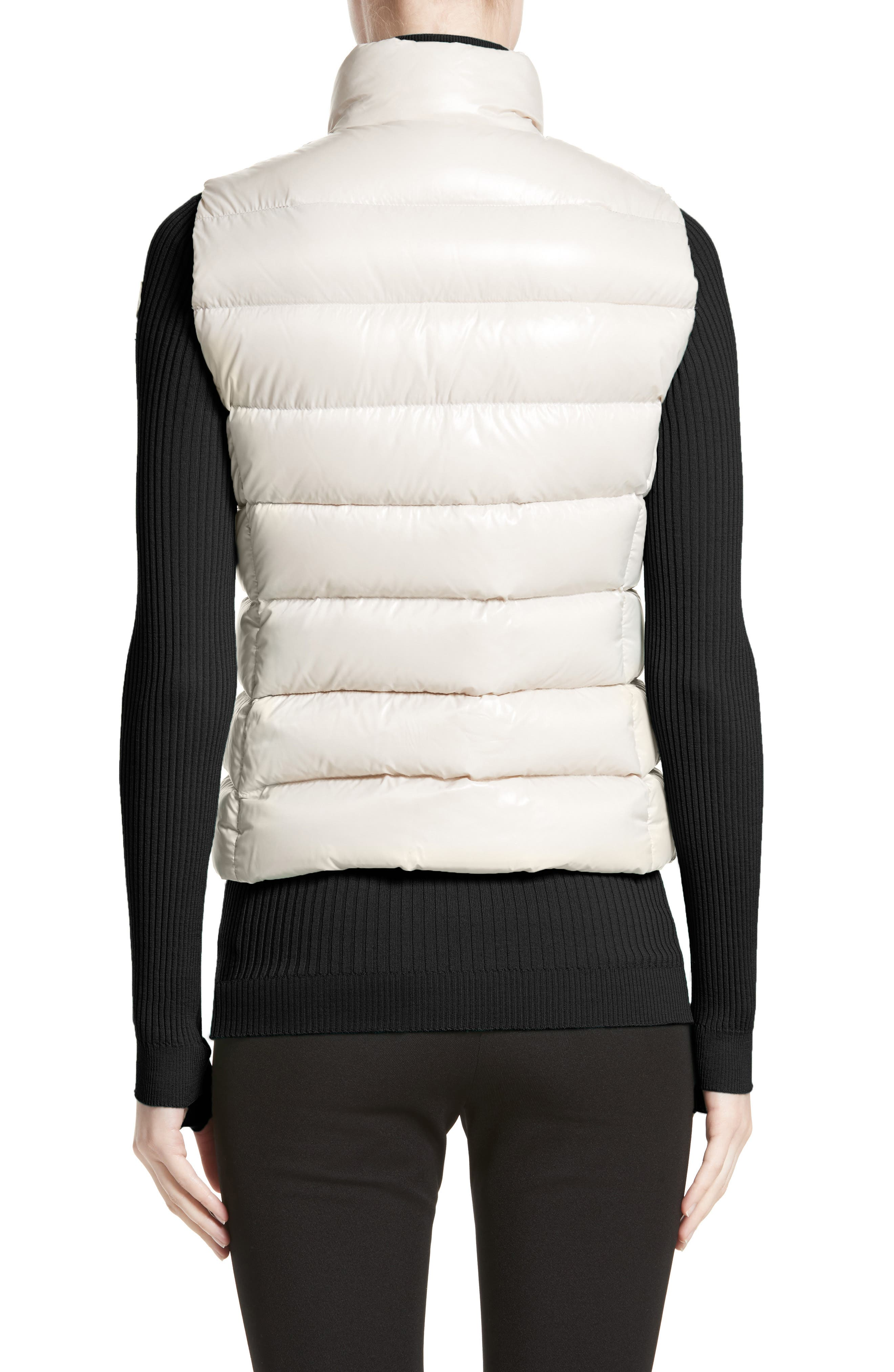 Ghany Water Resistant Shiny Nylon Down Puffer Vest,                             Alternate thumbnail 2, color,                             BEIGE