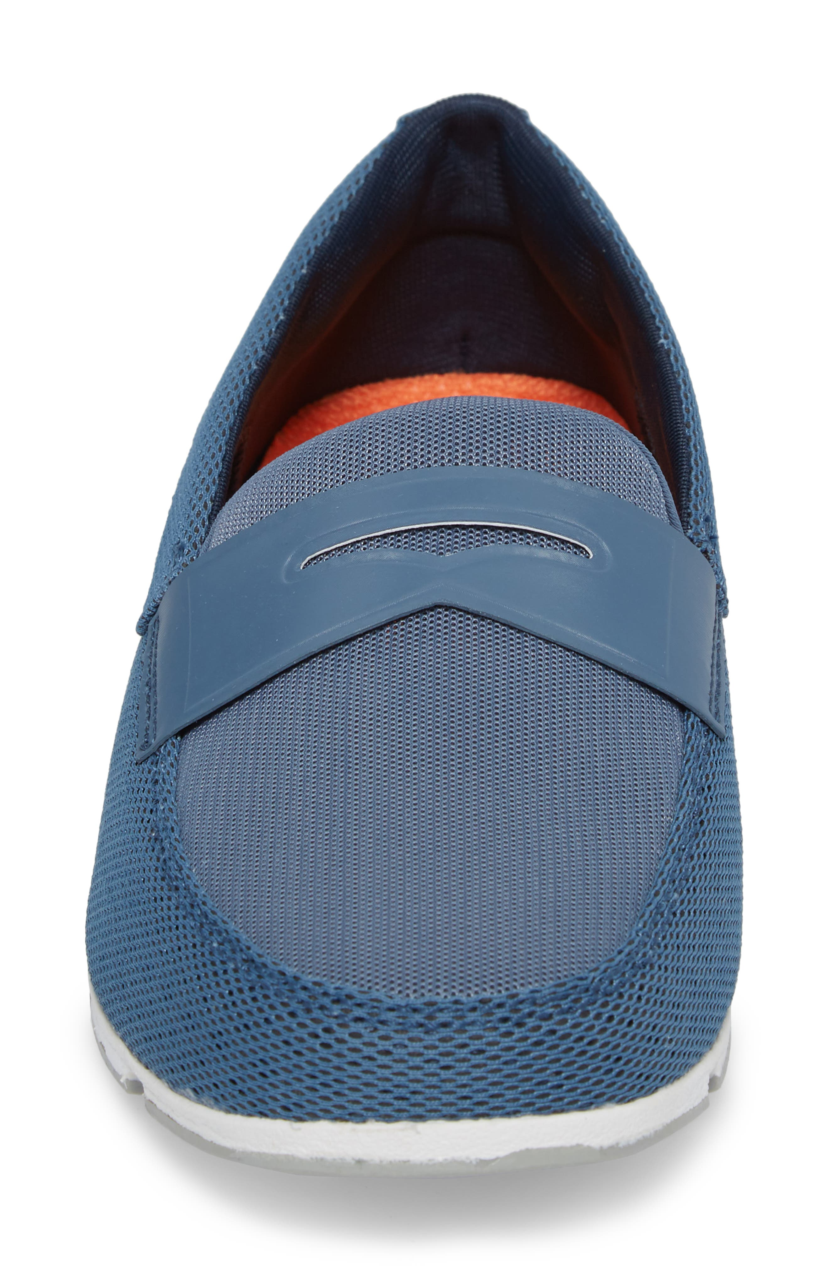Breeze Penny Loafer,                             Alternate thumbnail 4, color,                             SLATE/ WHITE/ GREY FABRIC
