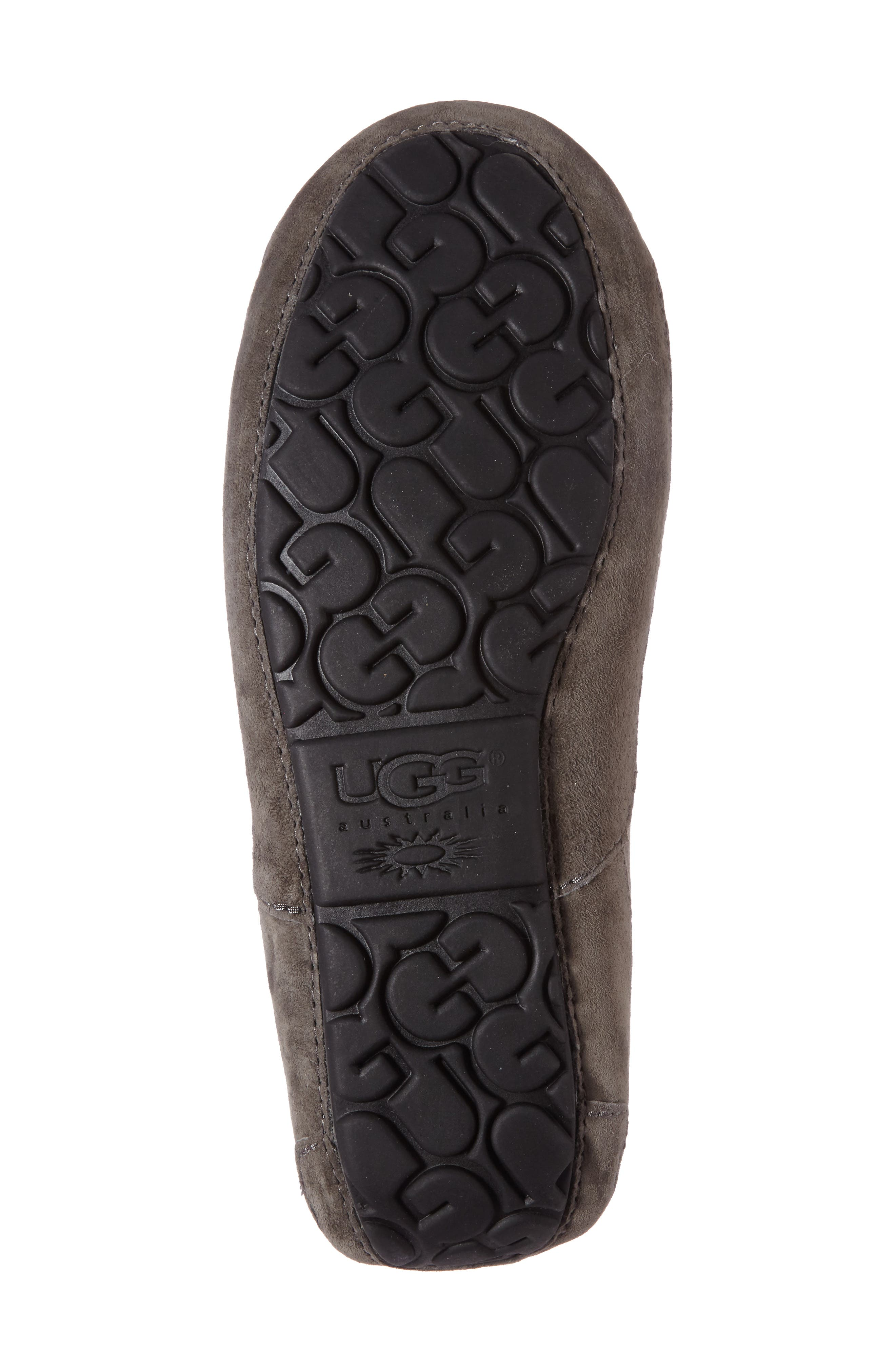Ascot Suede Slipper,                             Alternate thumbnail 4, color,                             CHARCOAL