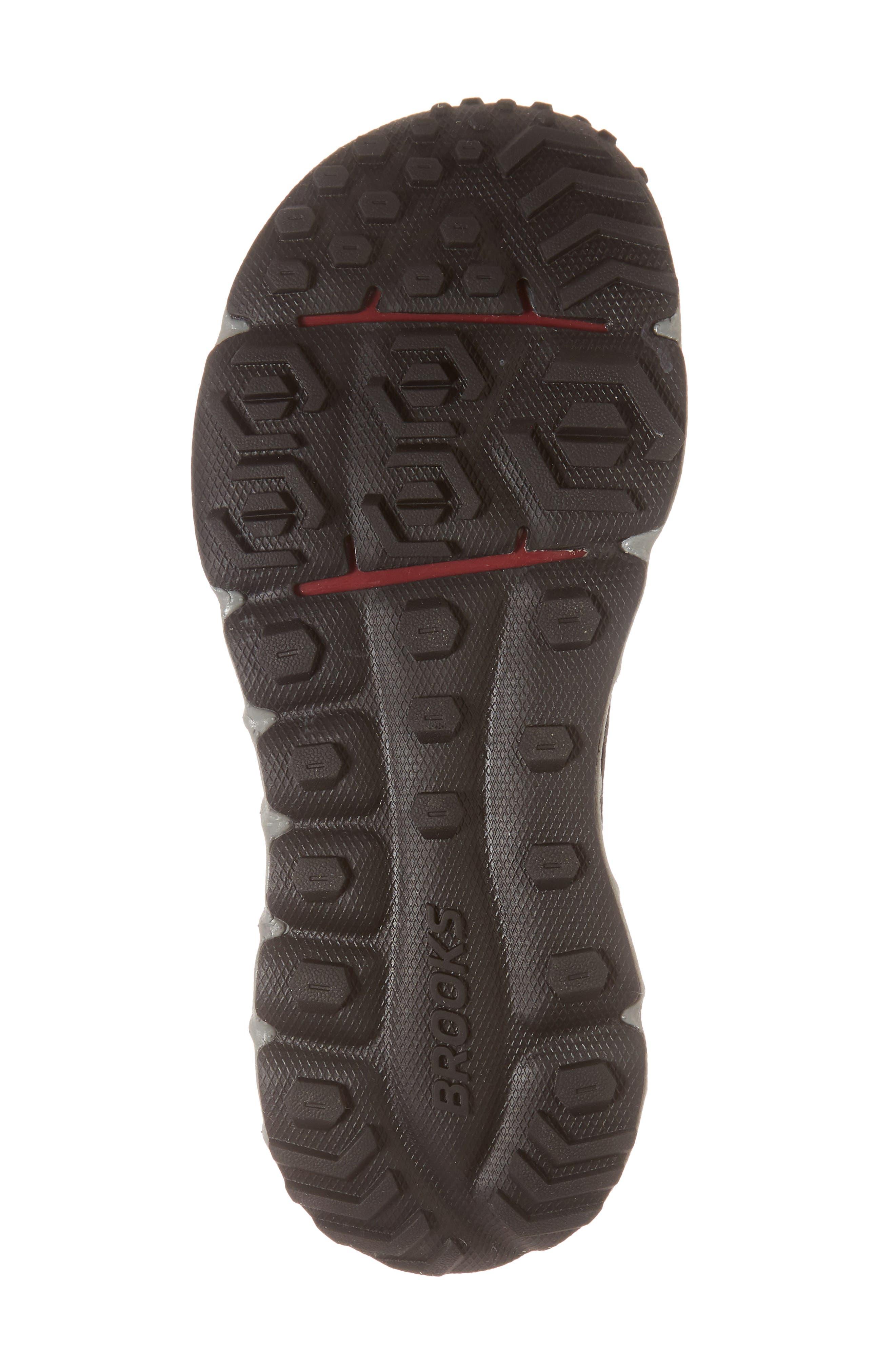 PureGrit 7 Trail Running Shoe,                             Alternate thumbnail 6, color,                             BLACK/ PURPLE/ GREY