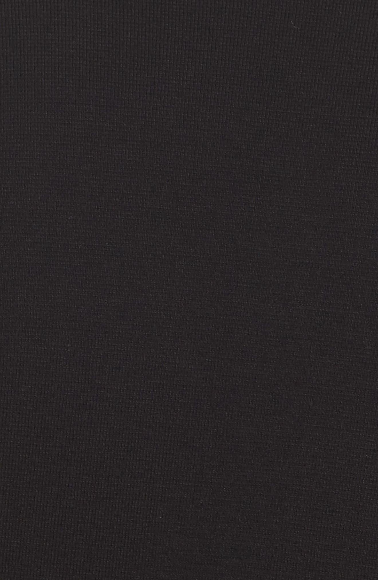 Jodi Longline Sweater Vest,                             Alternate thumbnail 5, color,                             BLACK