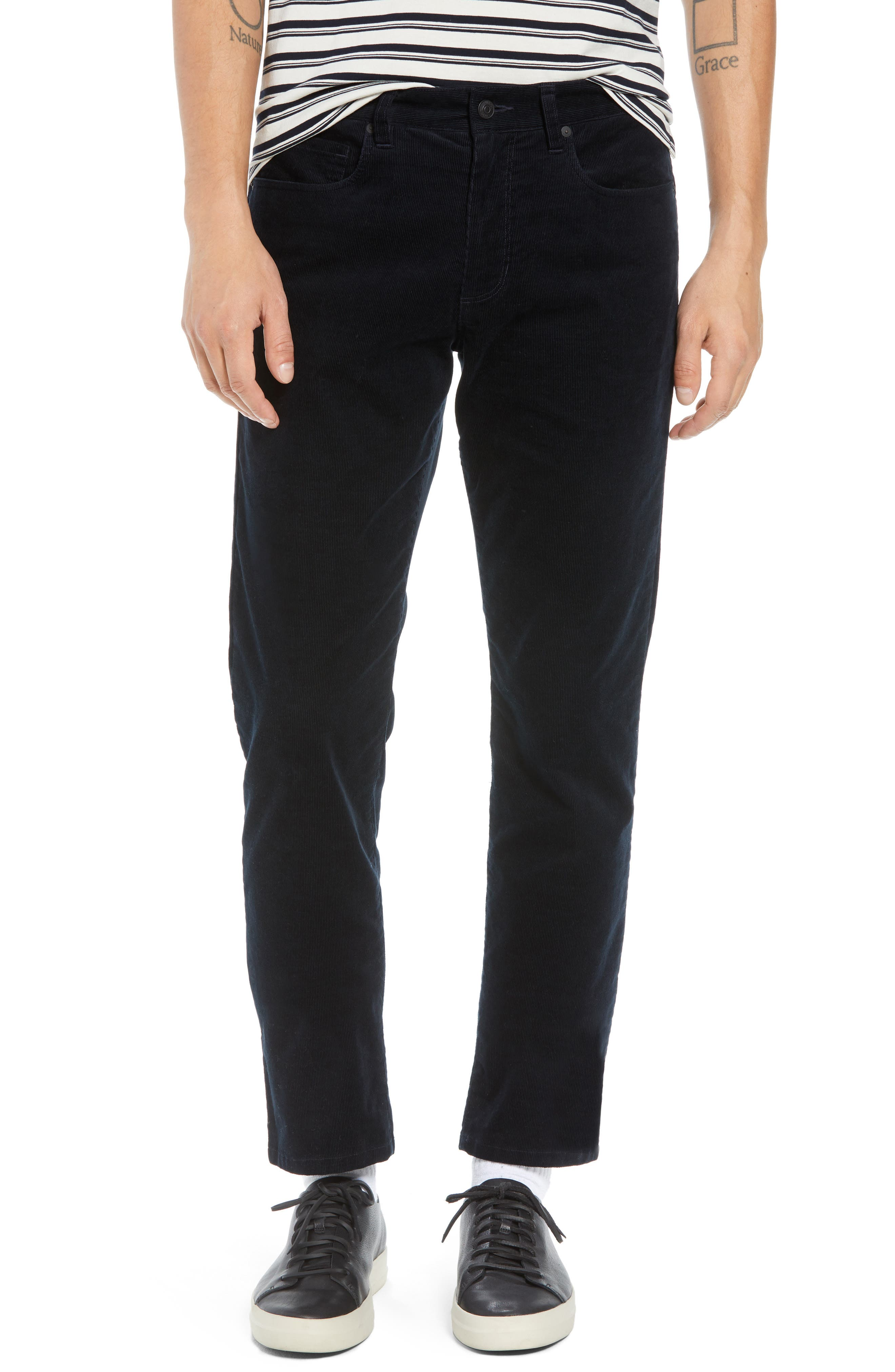 Dylan Slim Fit Corduroy Pants,                         Main,                         color, 001
