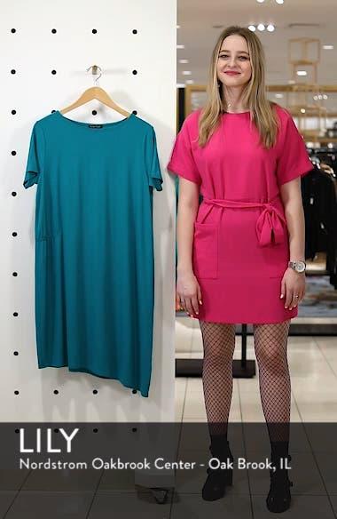 Asymmetrcial Stretch Jersey Shift Dress, sales video thumbnail