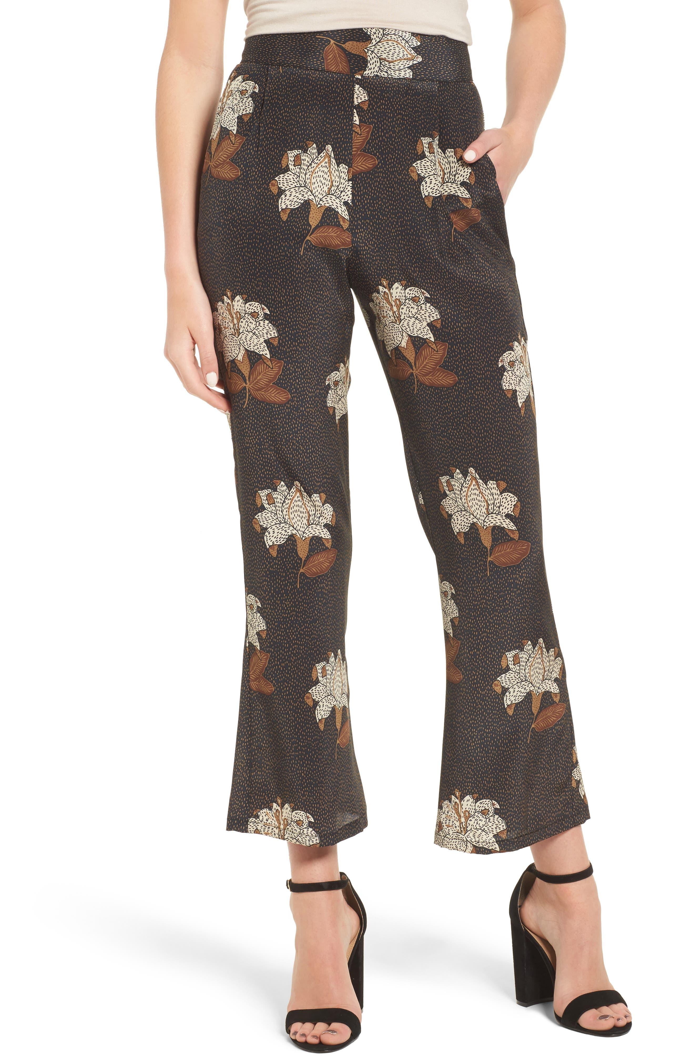 Isla Silk Crop Pants,                             Main thumbnail 1, color,