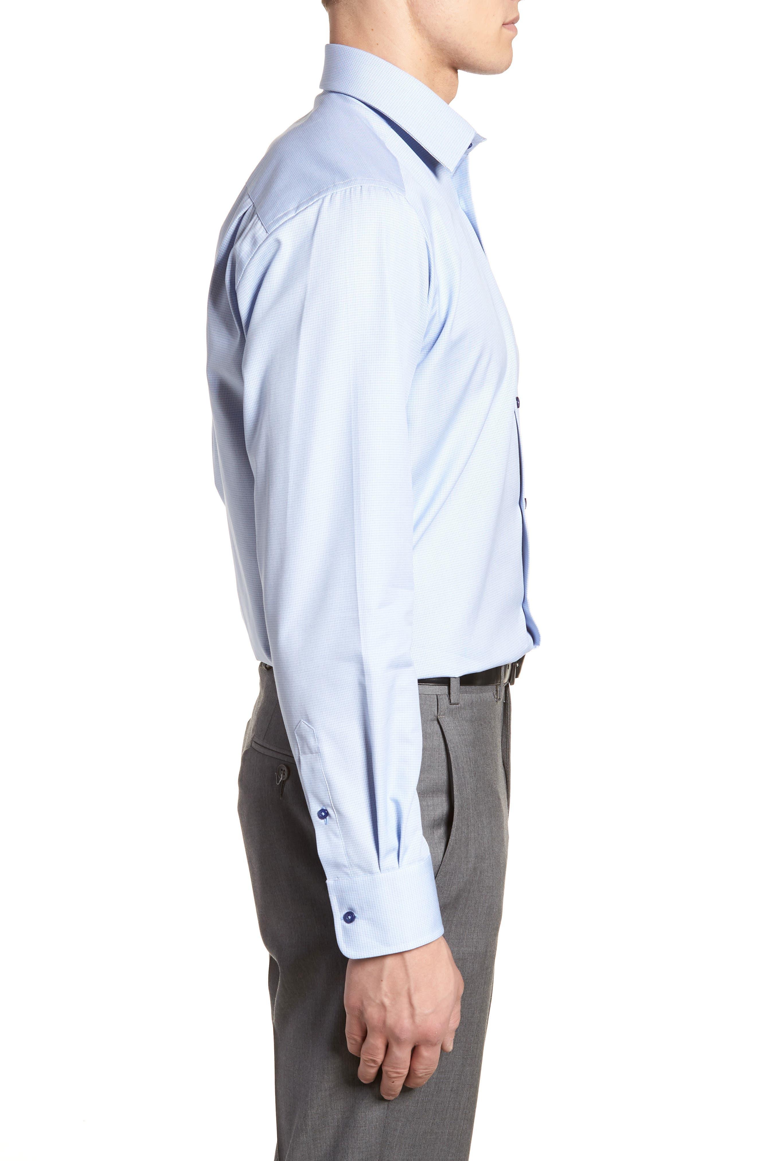 Regular Fit Solid Dress Shirt,                             Alternate thumbnail 4, color,                             423
