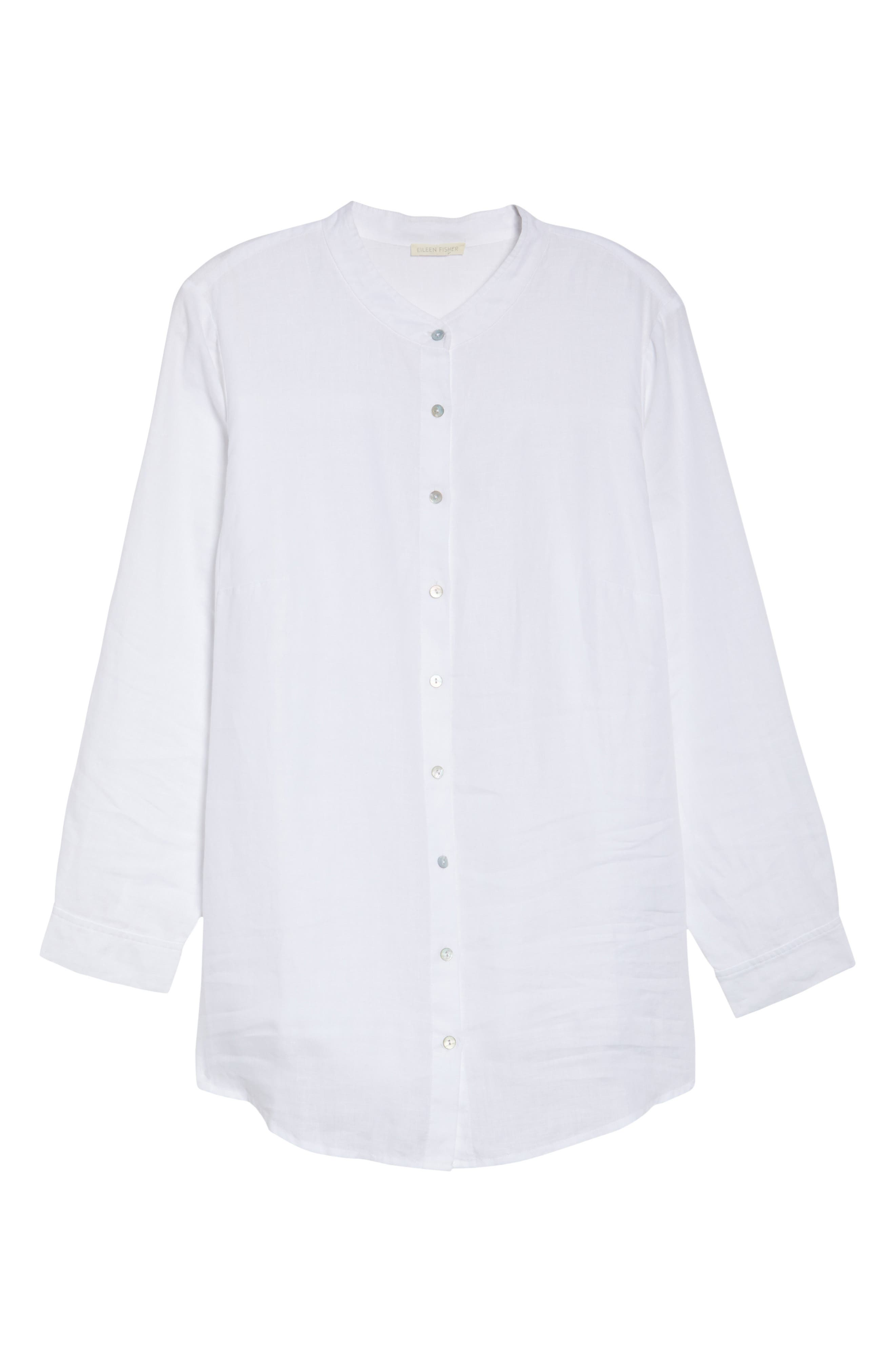 Organic Linen Tunic Shirt,                             Alternate thumbnail 16, color,