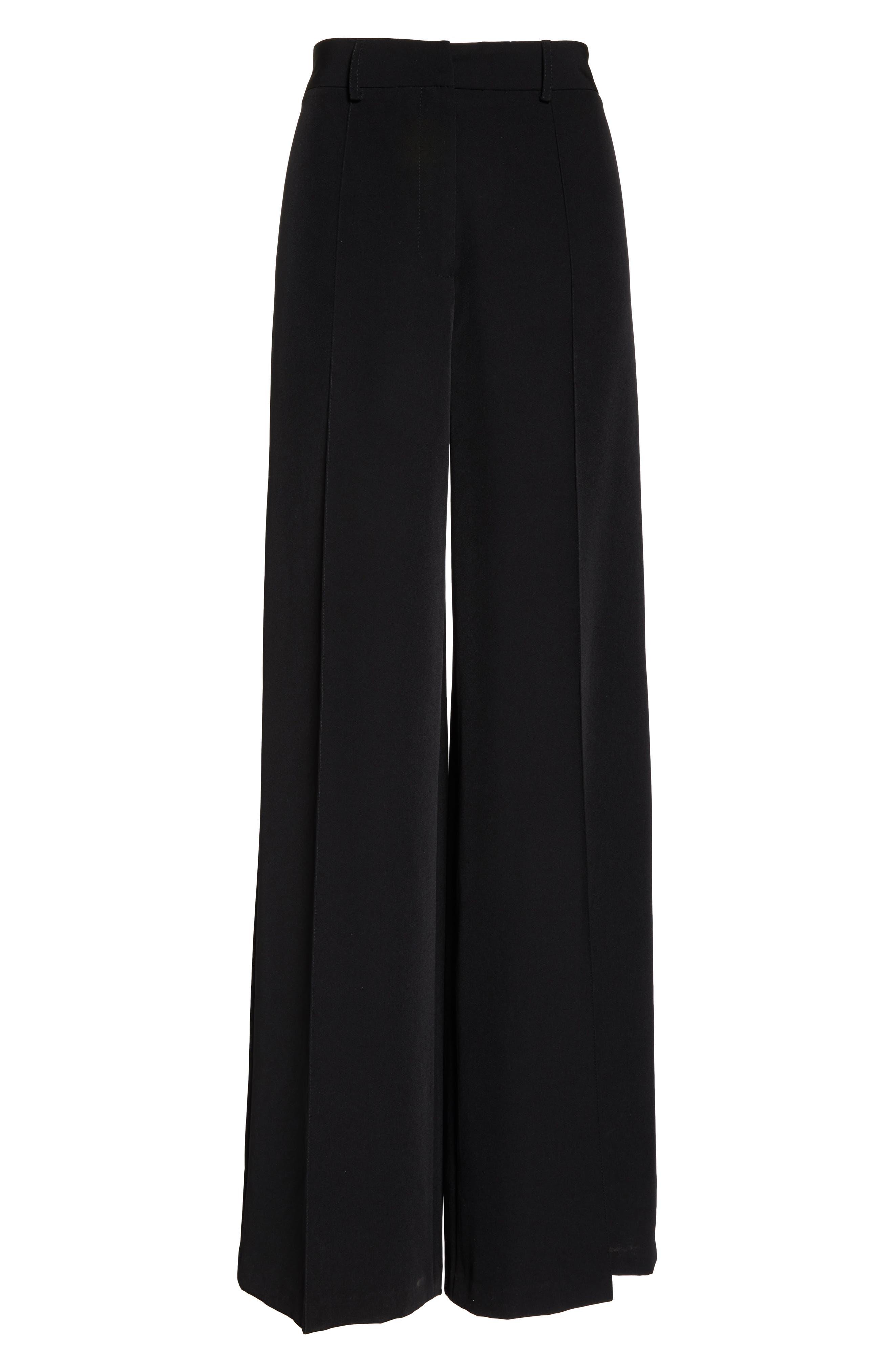 'Hayden' Wide Leg Trousers,                             Alternate thumbnail 7, color,                             BLACK
