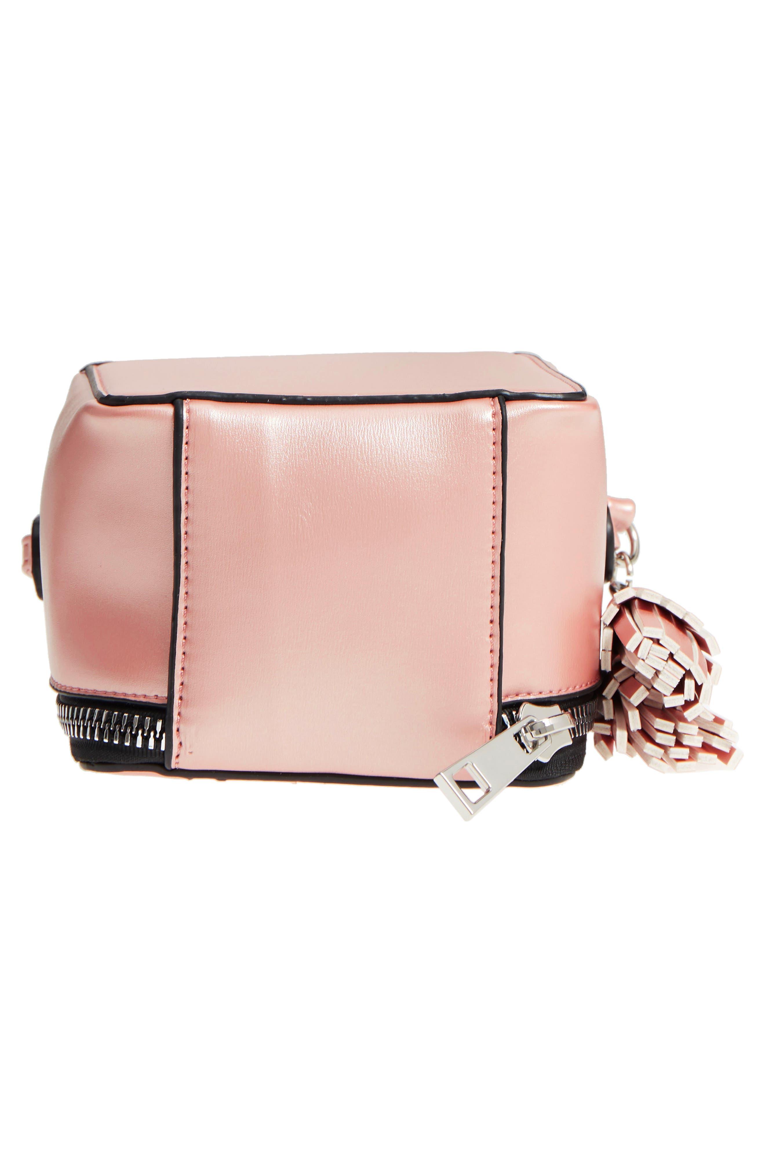 Tassel Metallic Faux Leather Box Bag,                             Alternate thumbnail 6, color,                             710