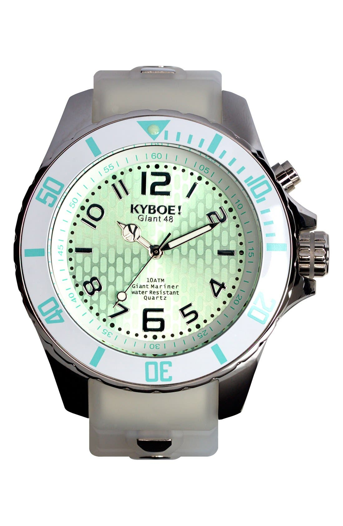 KYBOE!,                             Silicone Strap Watch, 48mm,                             Main thumbnail 1, color,                             100