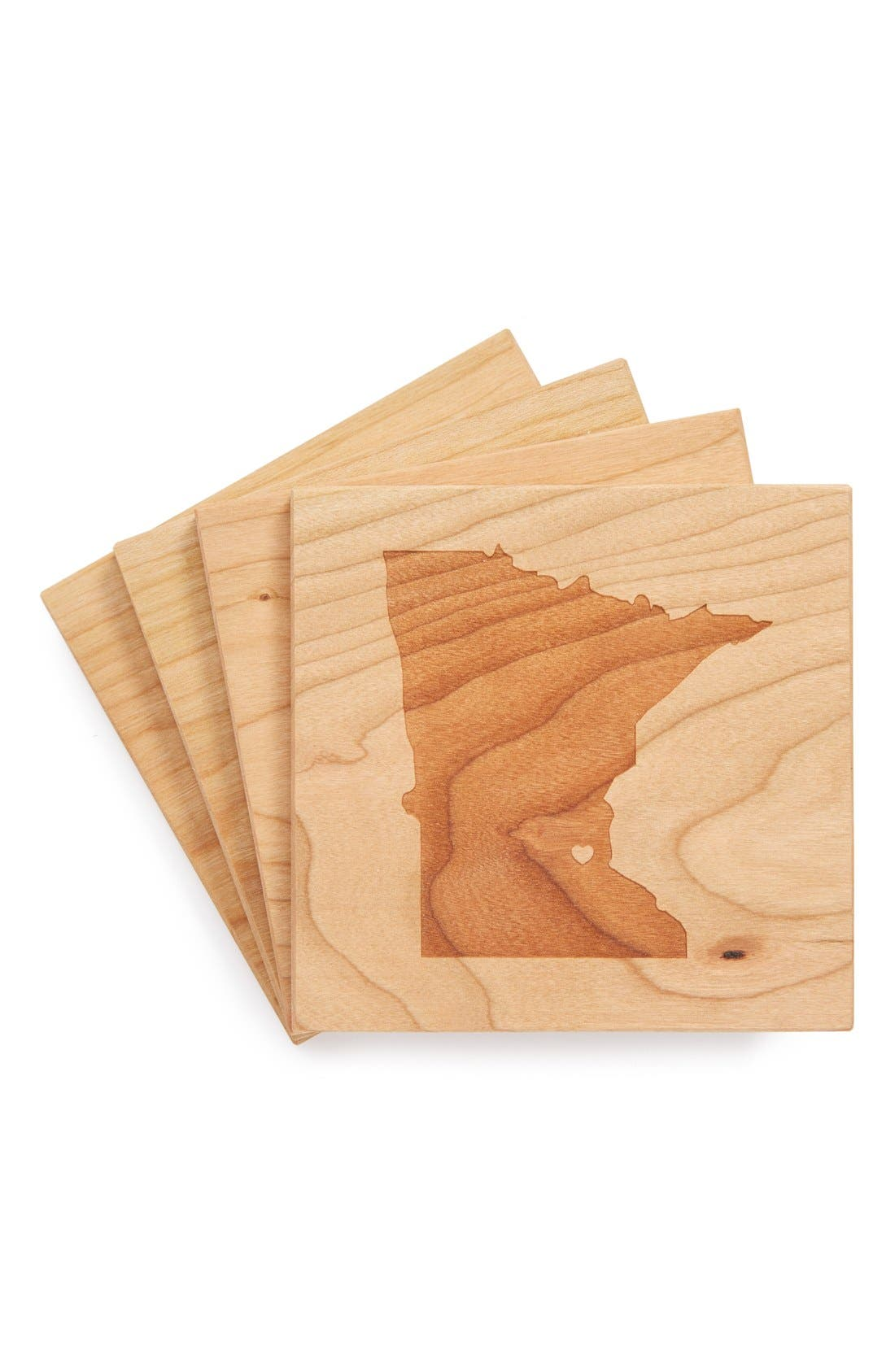 'State Silhouette' Coasters,                             Main thumbnail 24, color,