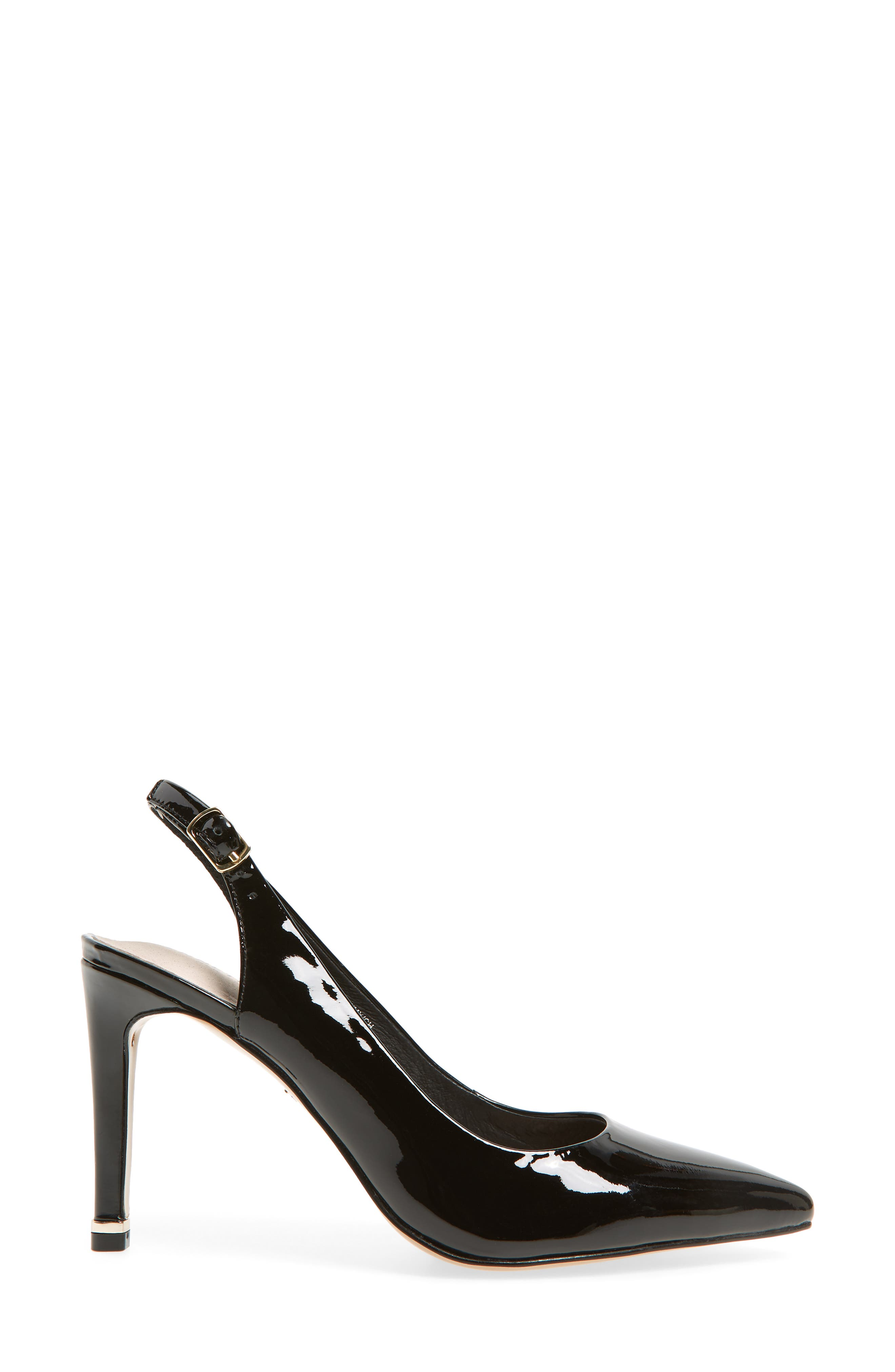 KENNETH COLE NEW YORK,                             Riley 85 Slingback Pump,                             Alternate thumbnail 3, color,                             BLACK PATENT LEATHER