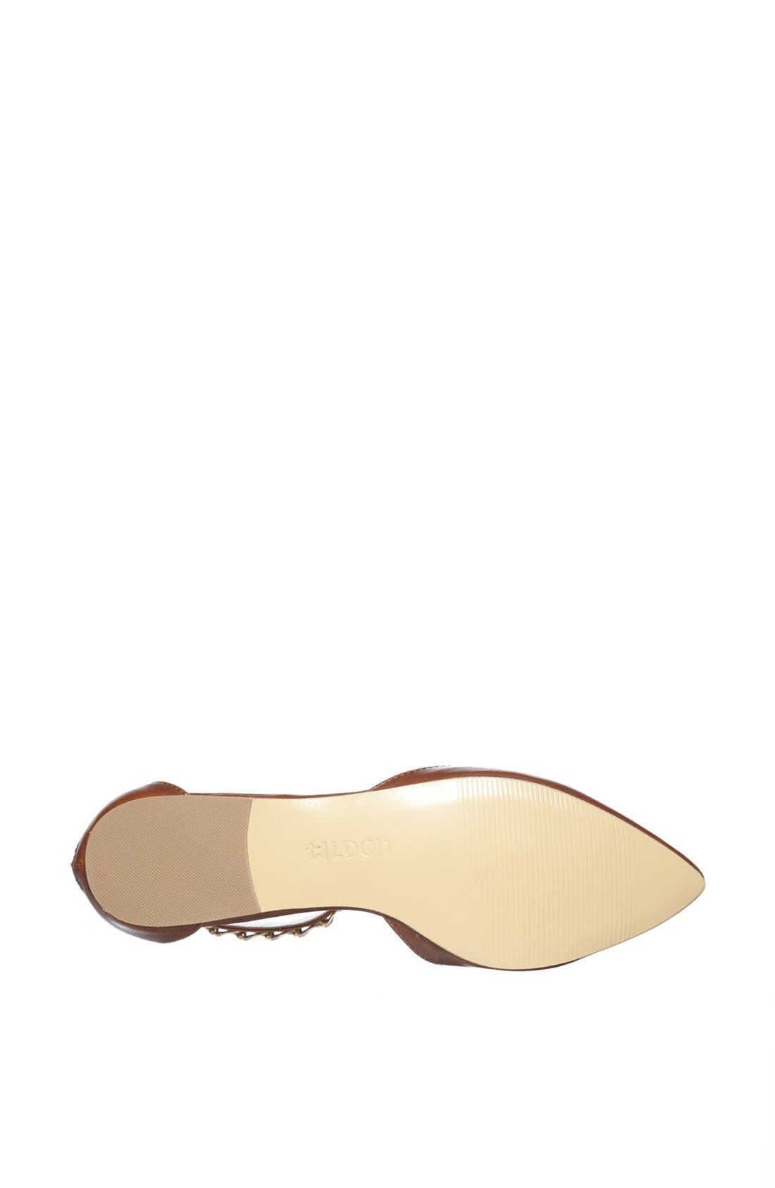 'Anya' Ankle Strap D'Orsay Flat,                             Alternate thumbnail 15, color,