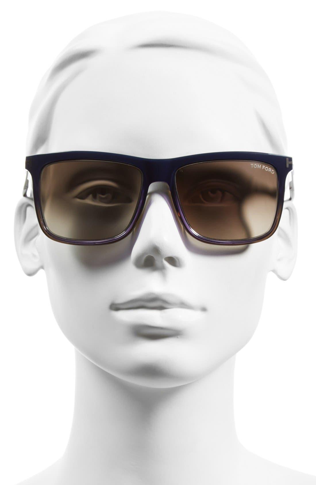 'Karlie' 57mm Retro Sunglasses,                             Alternate thumbnail 6, color,