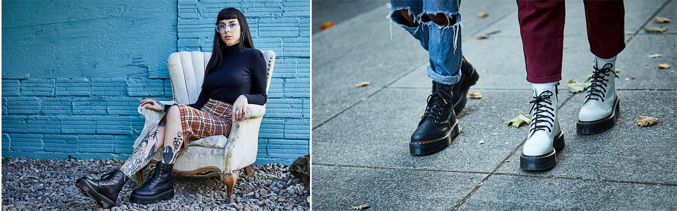 Dr. Martens boots for women.