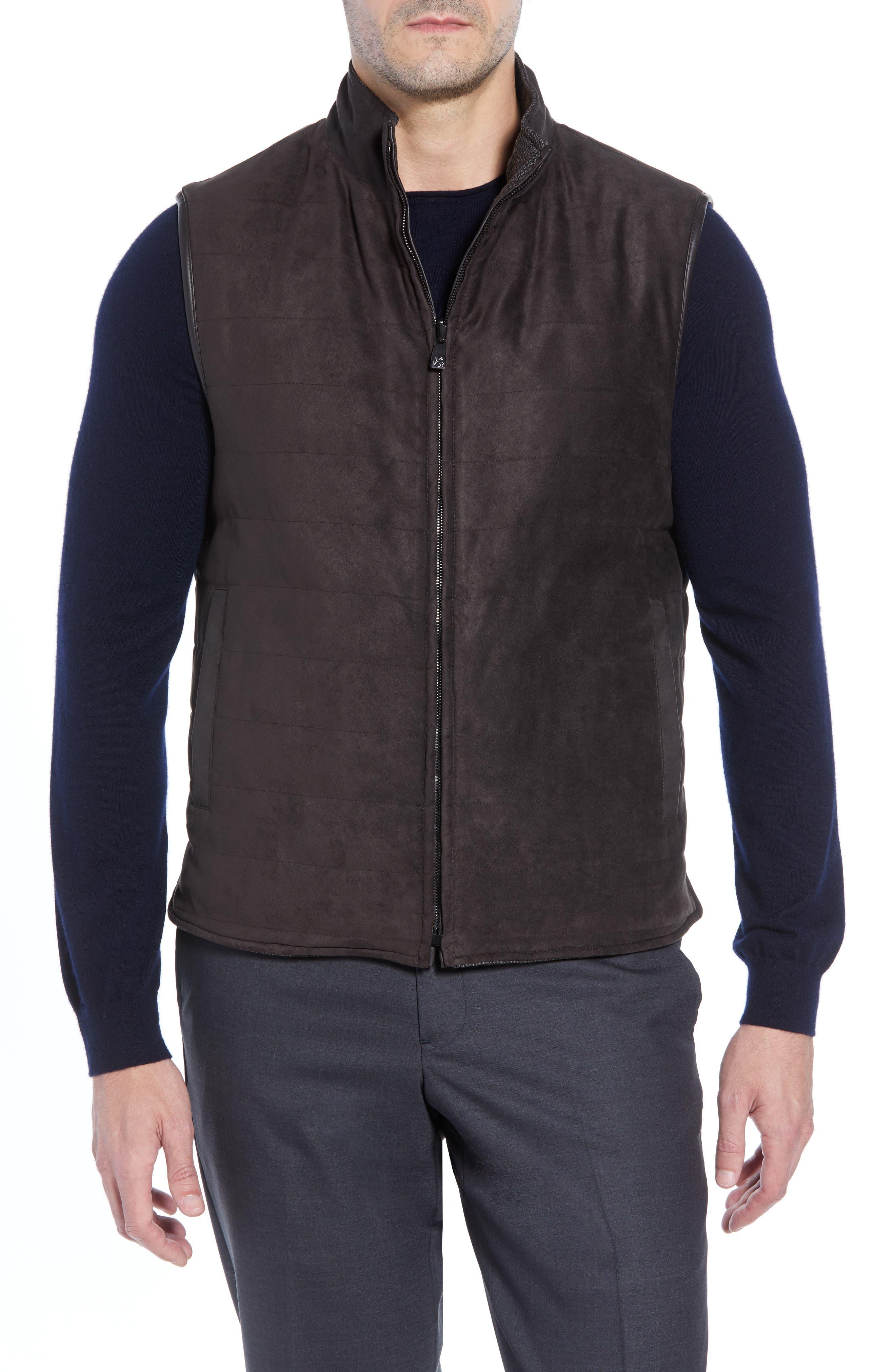 Classic Fit Reversible Vest,                             Alternate thumbnail 2, color,                             BROWN