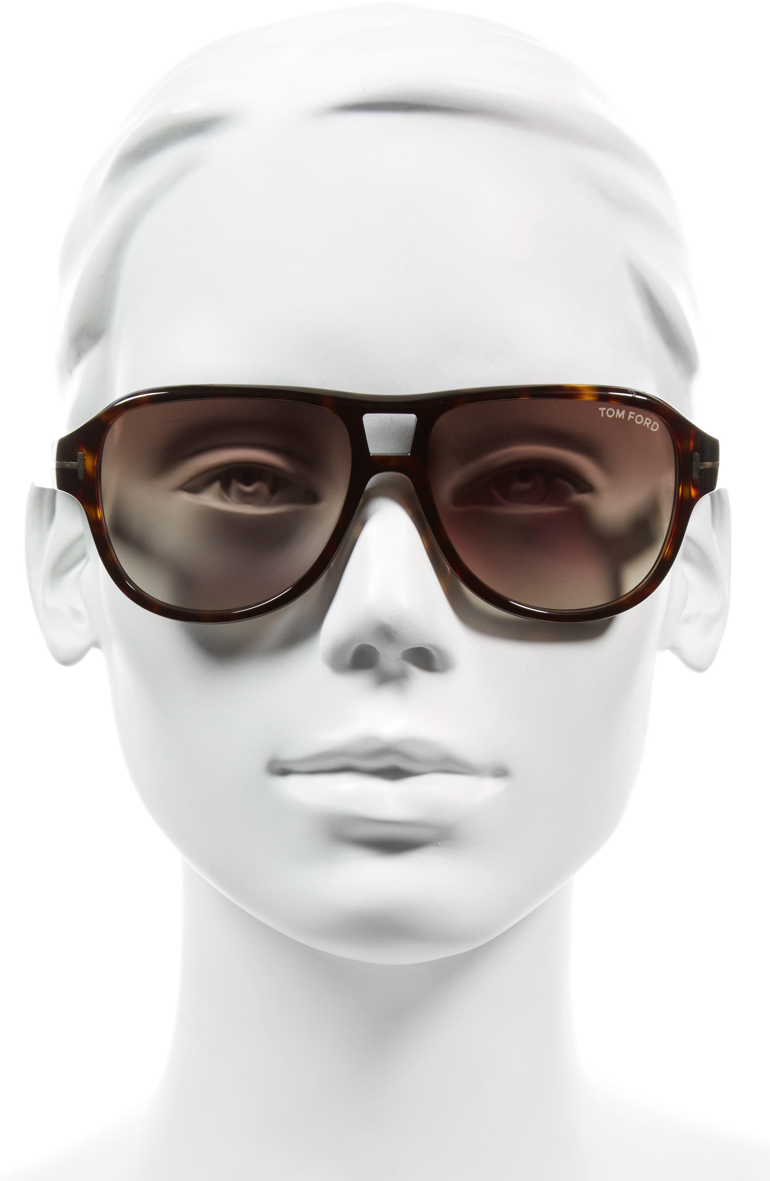 Philippa 55mm Gradient Round Aviator Sunglasses,                             Alternate thumbnail 2, color,                             001