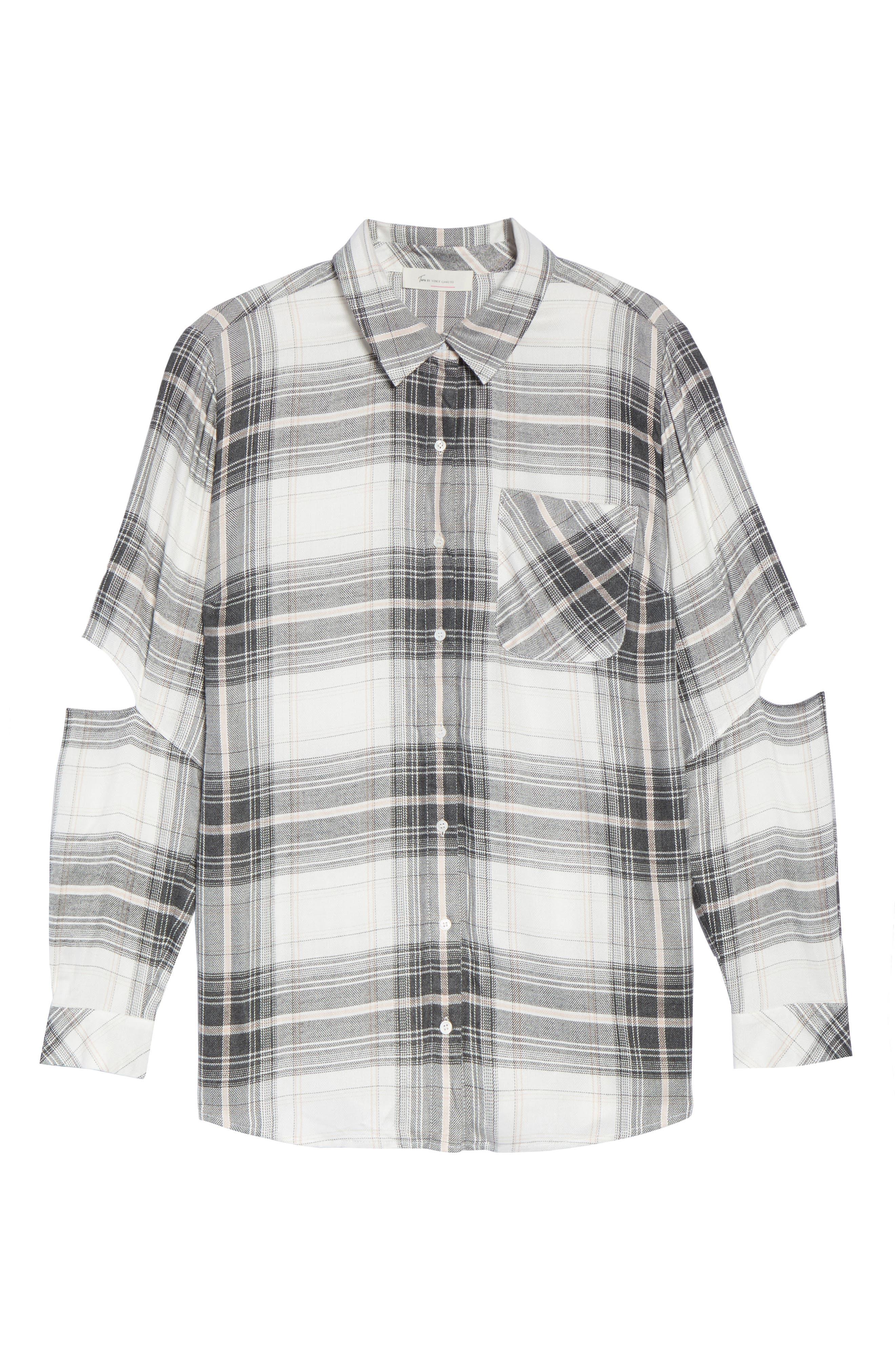 Cold Elbow Linearscape Plaid Shirt,                             Alternate thumbnail 6, color,                             669