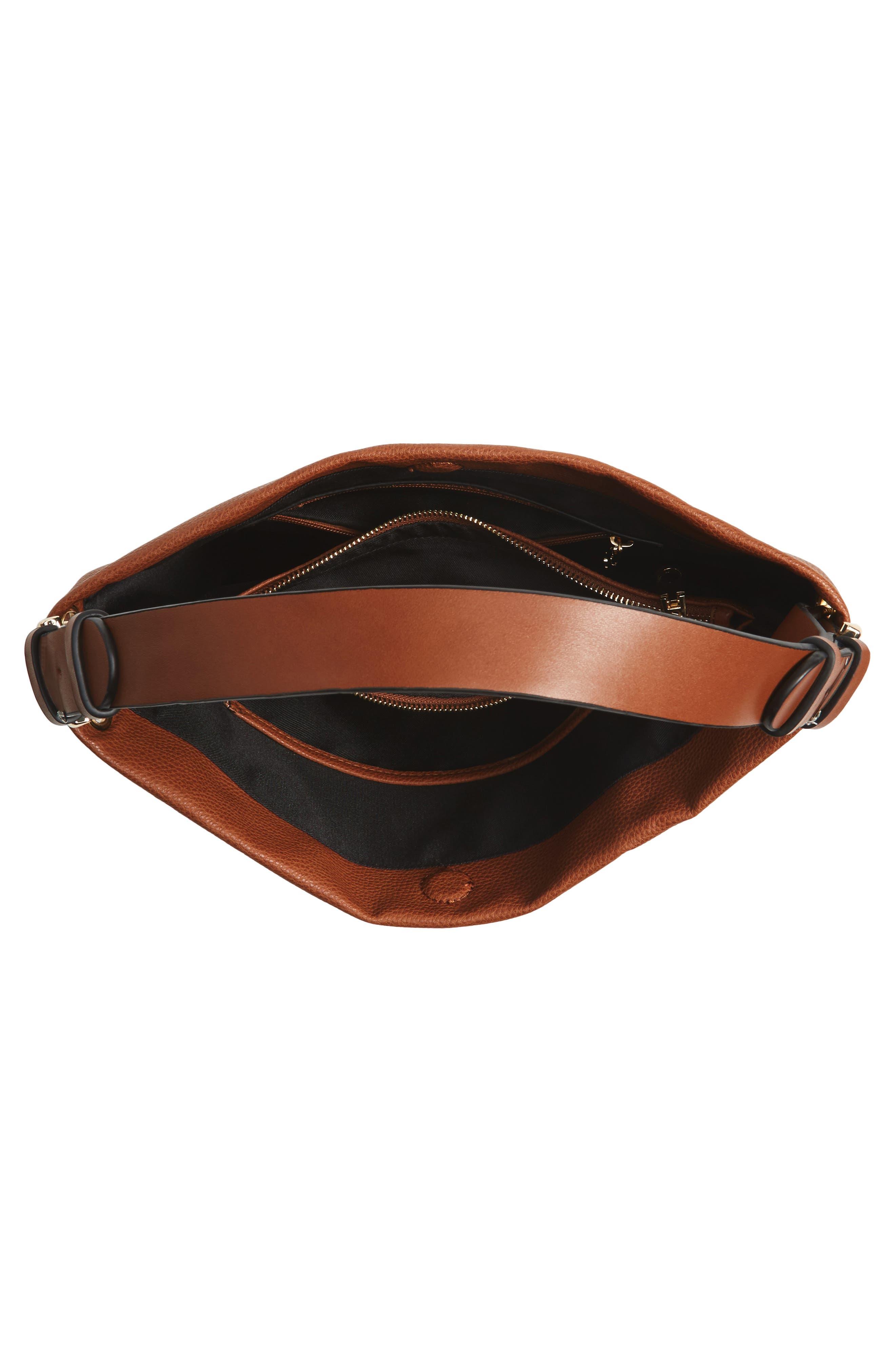 Taylor Faux Leather Shoulder Bag,                             Alternate thumbnail 12, color,