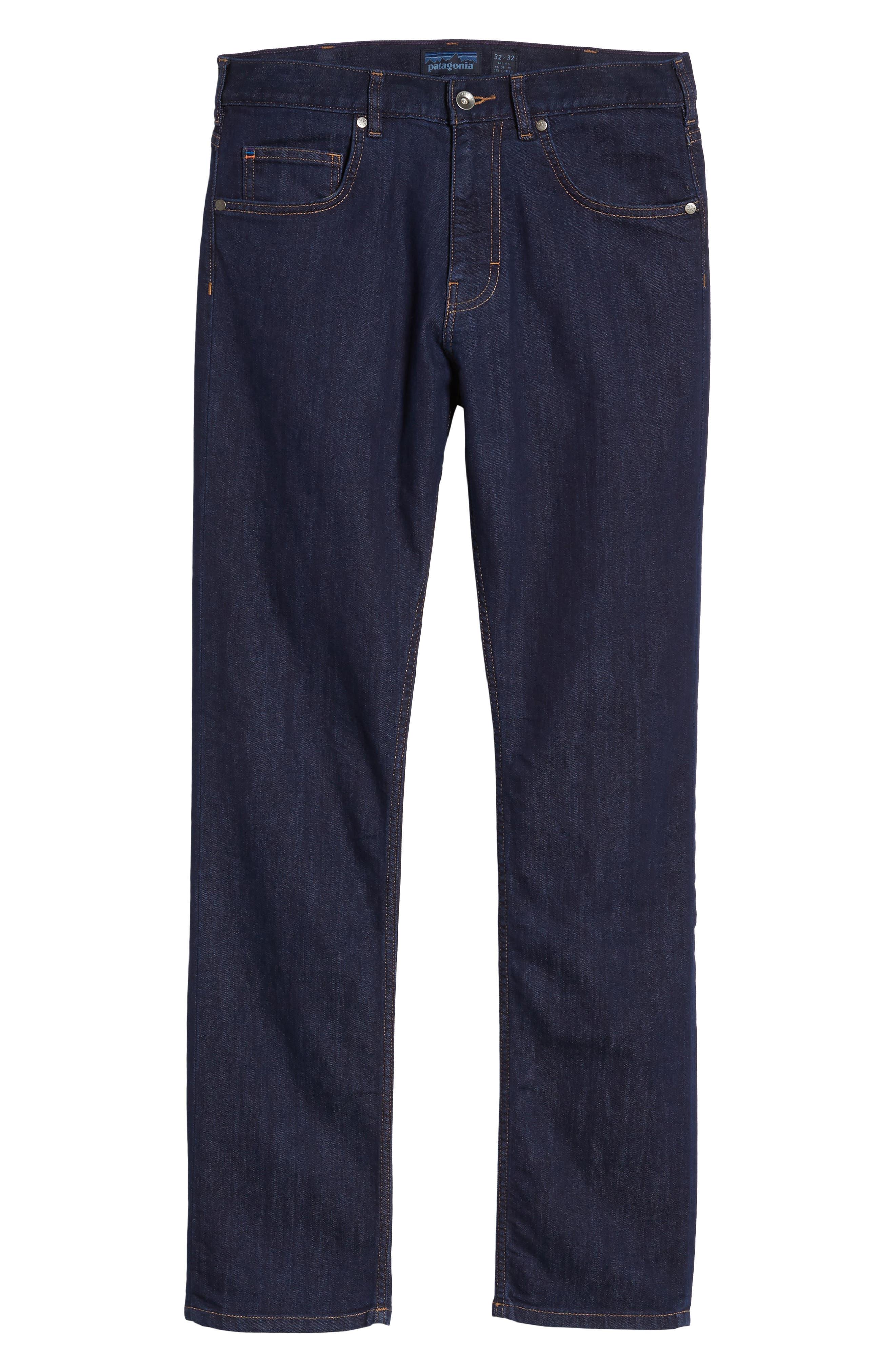 Straight Leg Performance Jeans,                             Alternate thumbnail 6, color,                             DARK DENIM