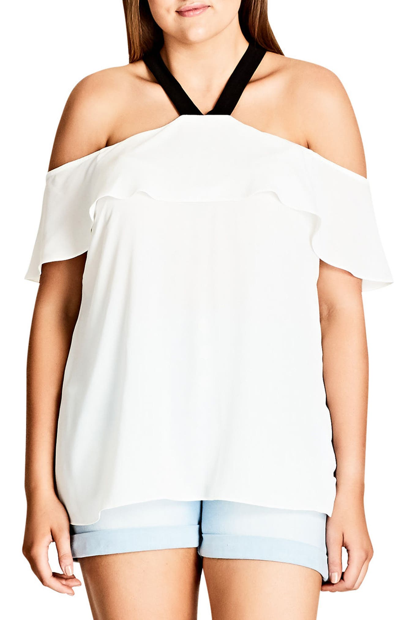 Ashi Off the Shoulder Top,                             Alternate thumbnail 4, color,