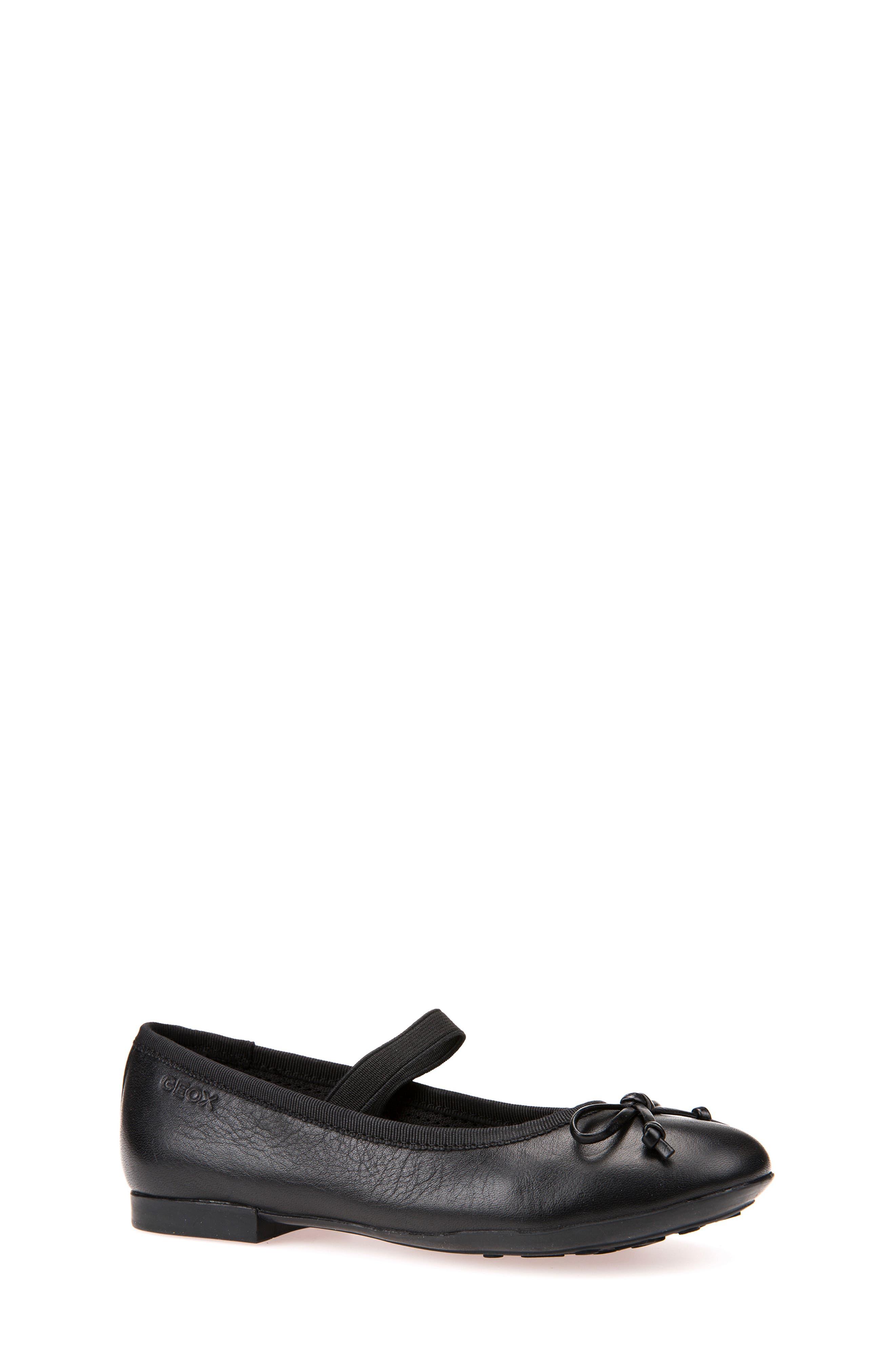 Plie Leather Ballet Flat,                             Main thumbnail 1, color,                             BLACK