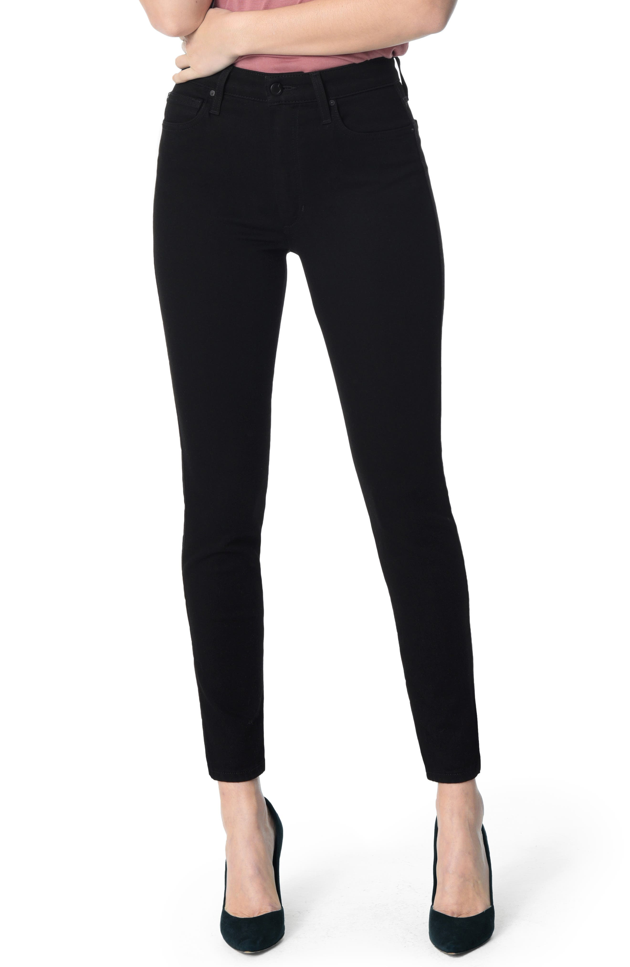 Flawless - Charlie High Waist Ankle Skinny Jeans,                             Main thumbnail 1, color,                             001