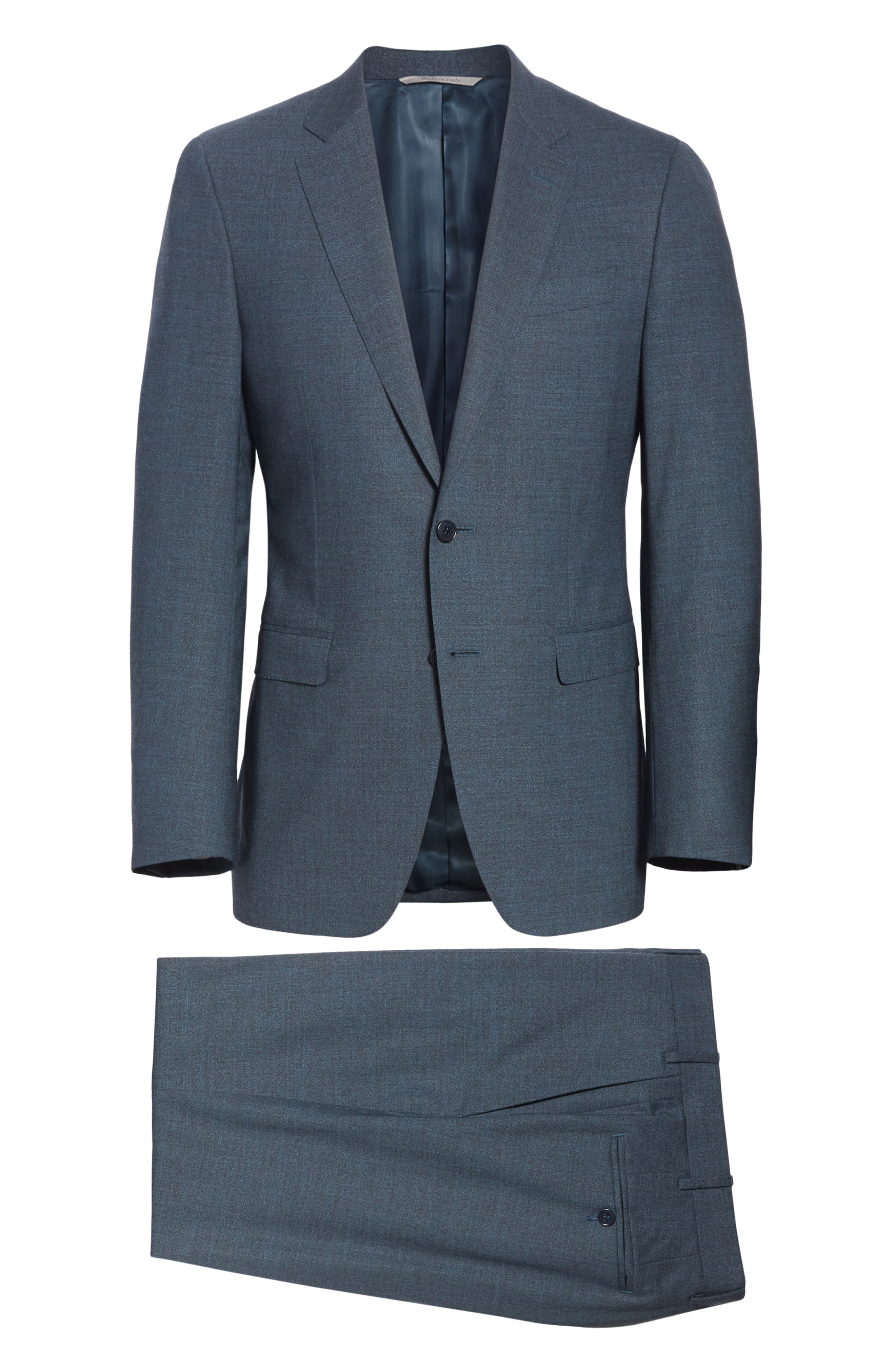CANALI,                             Classic Fit Stretch Solid Wool Suit,                             Alternate thumbnail 7, color,                             400