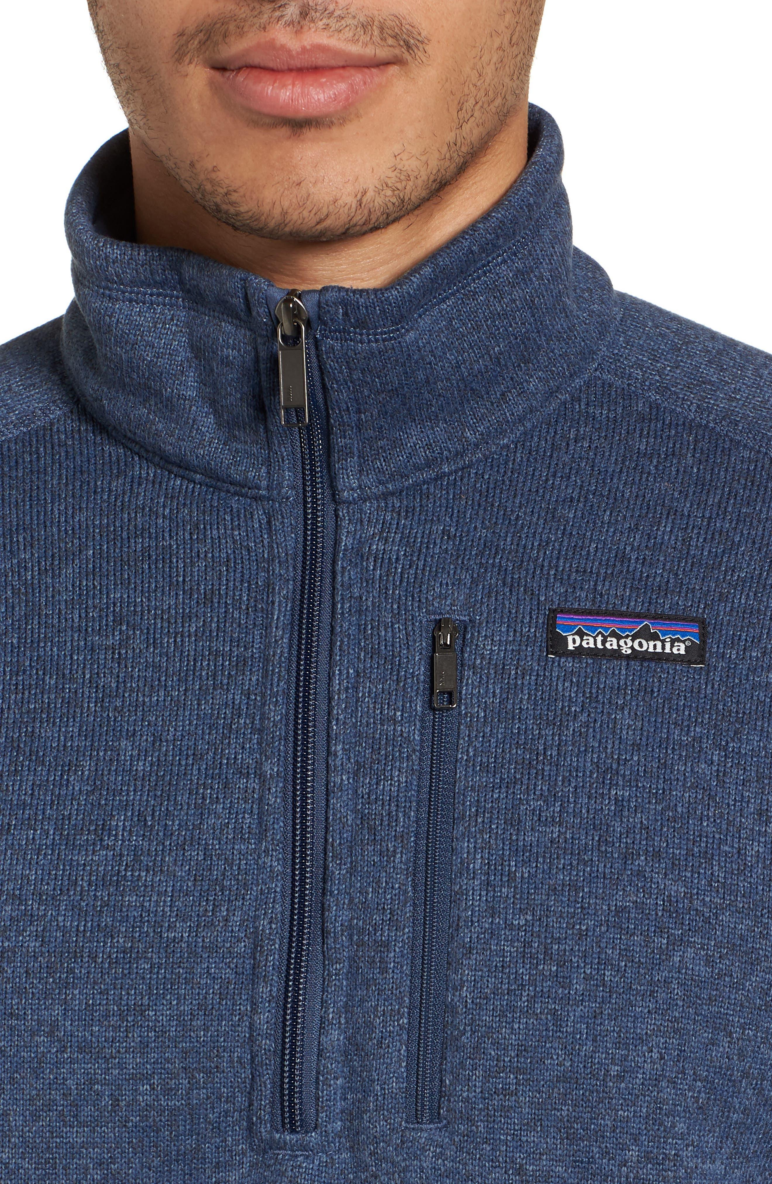 Better Sweater Quarter Zip Pullover,                             Alternate thumbnail 4, color,                             DOLOMITE BLUE