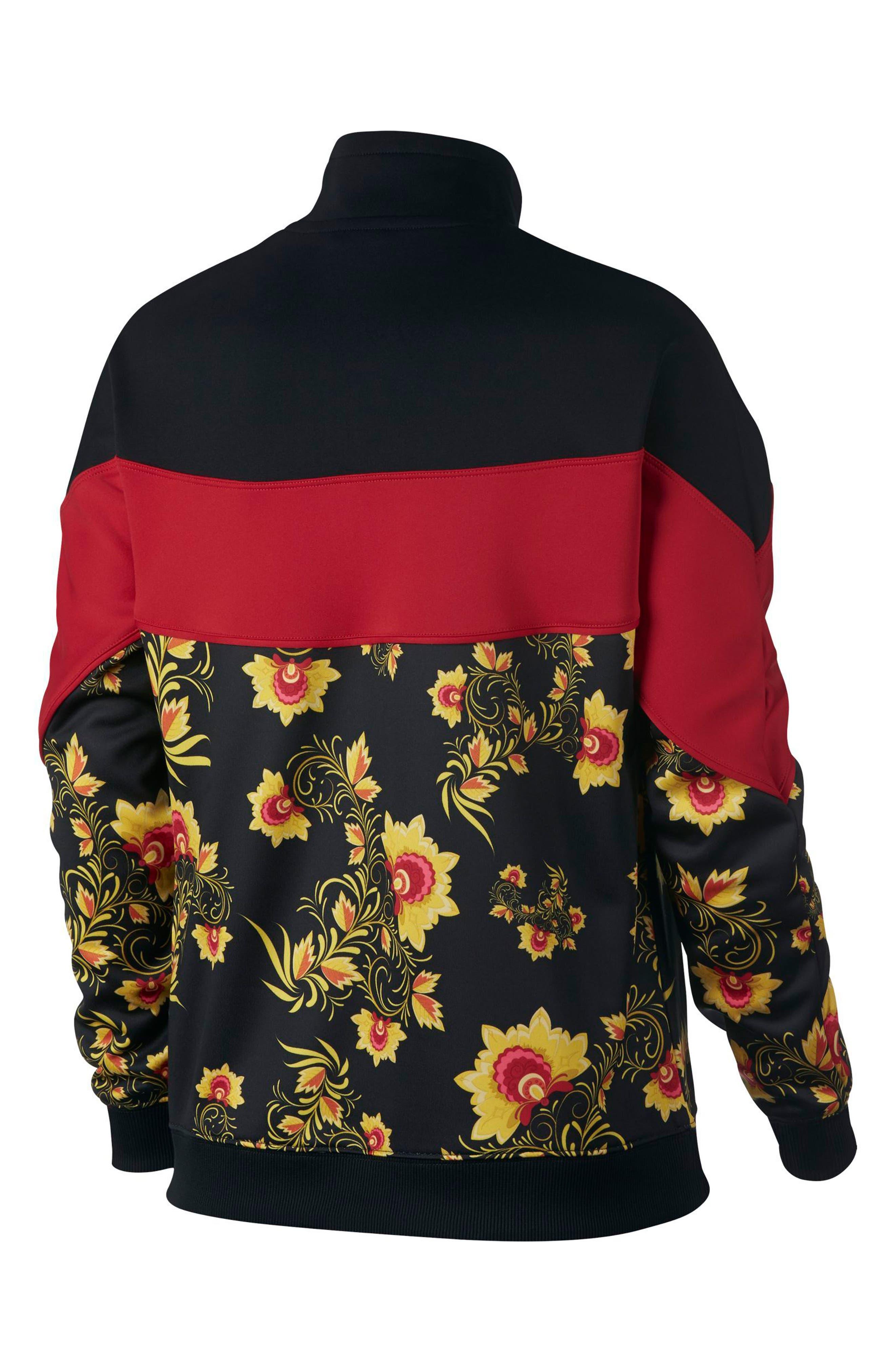 NIKE,                             Sportswear Women's Half Zip Jacket,                             Alternate thumbnail 2, color,                             010