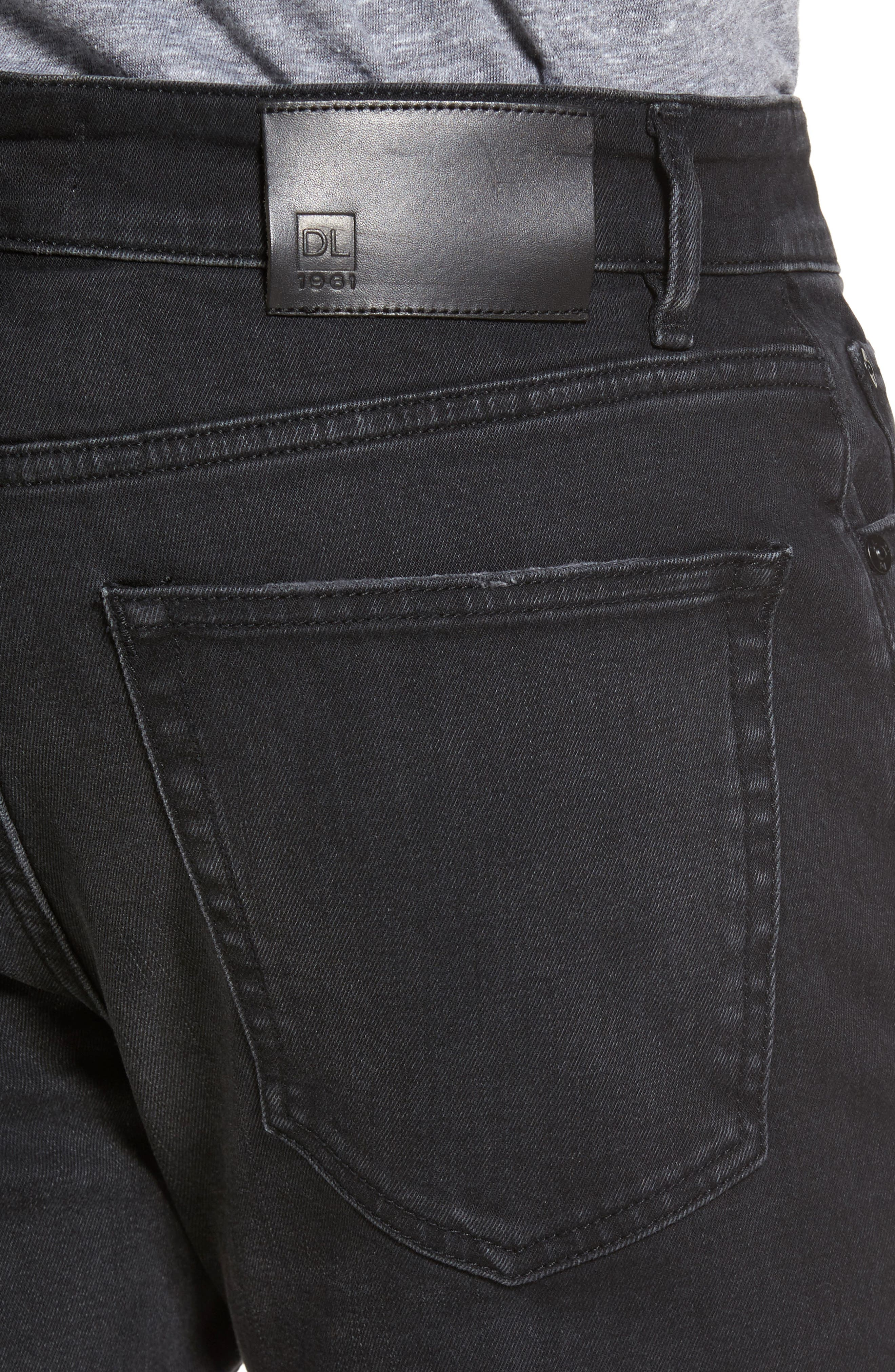 Hunter Skinny Jeans,                             Alternate thumbnail 4, color,                             001