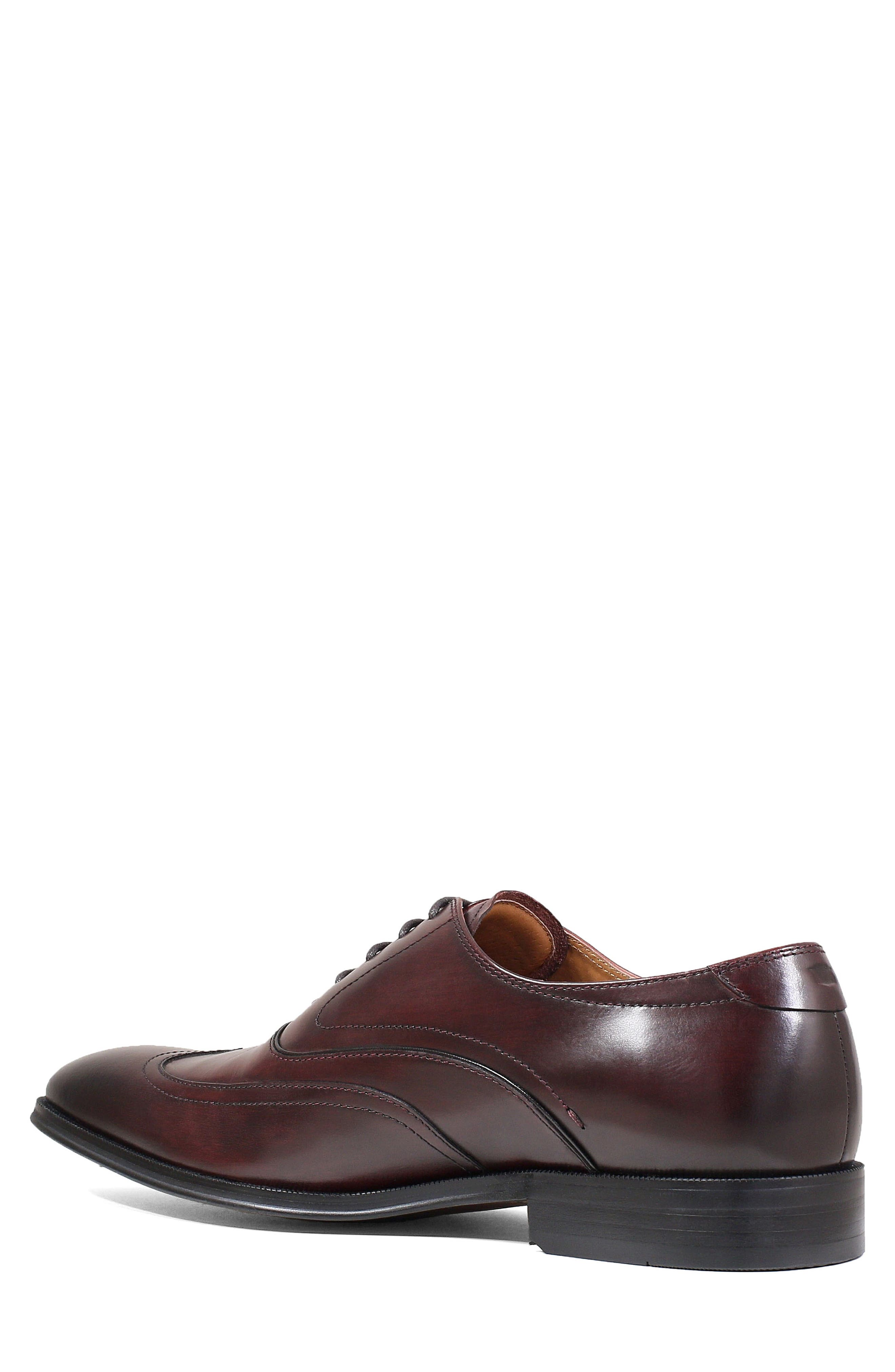 Belfast Wingtip,                             Alternate thumbnail 2, color,                             BURGUNDY LEATHER