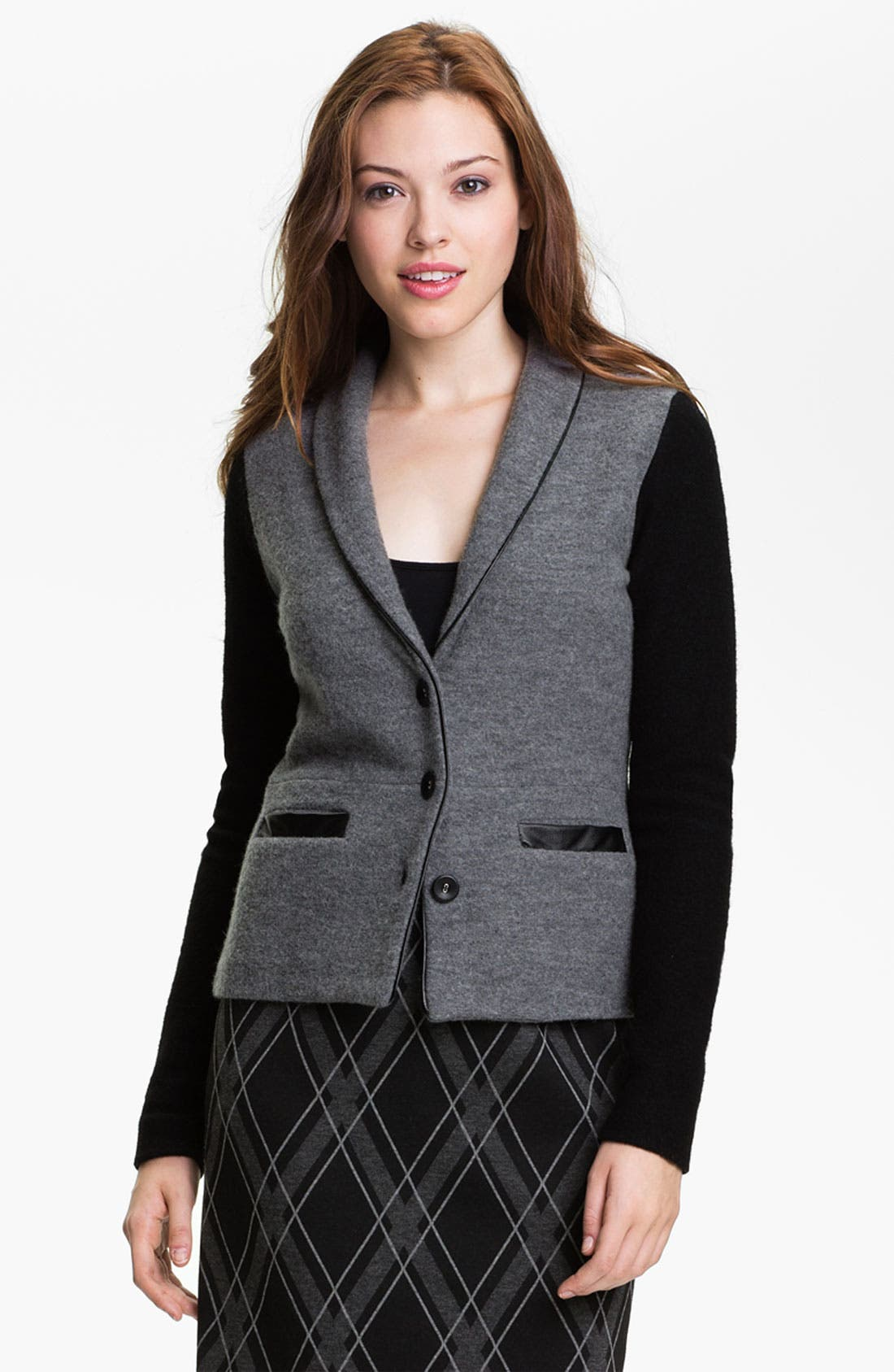HALOGEN<SUP>®</SUP> Boiled Wool Jacket, Main, color, 020