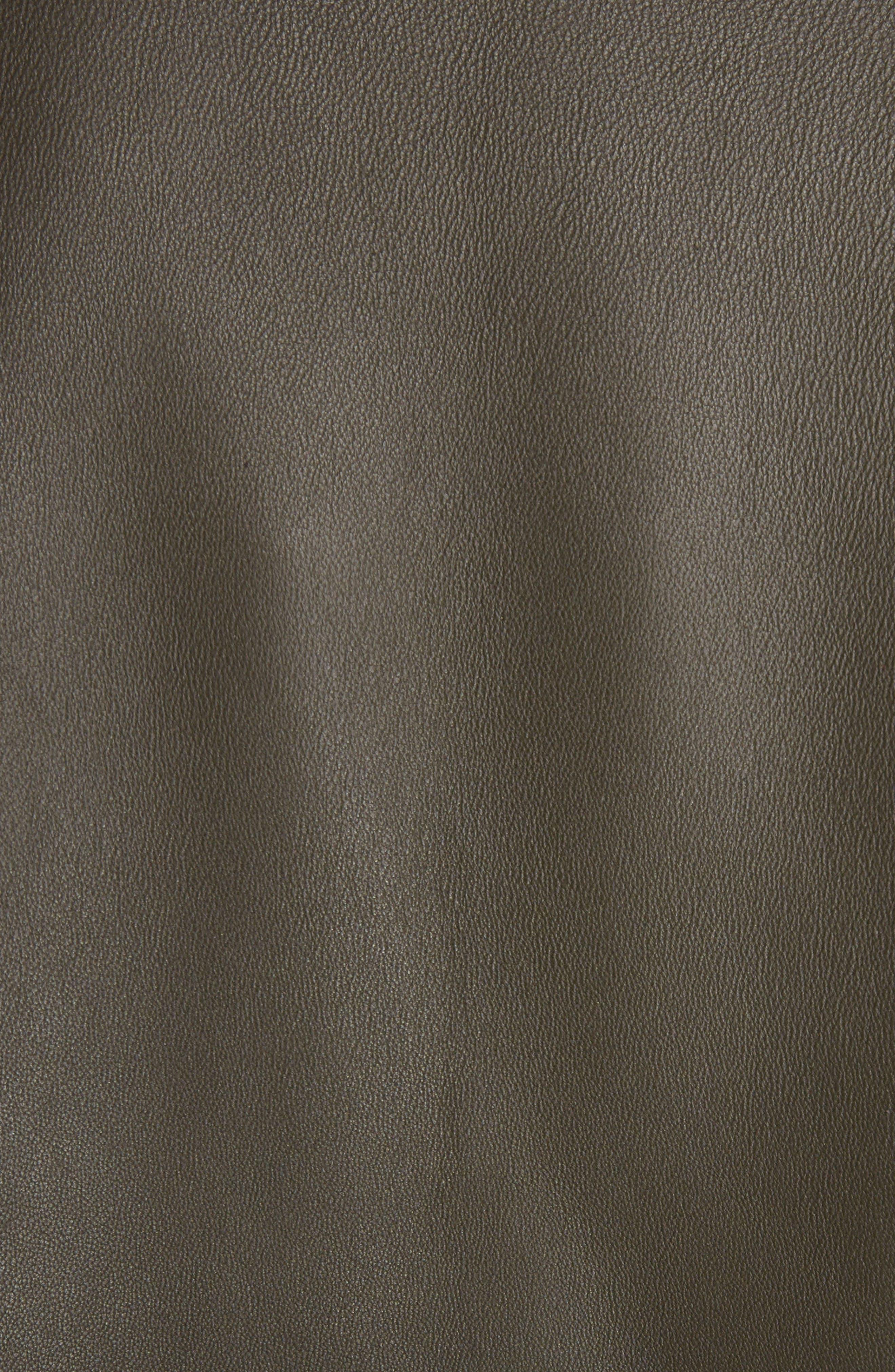 Myrtle Leather Jacket,                             Alternate thumbnail 5, color,