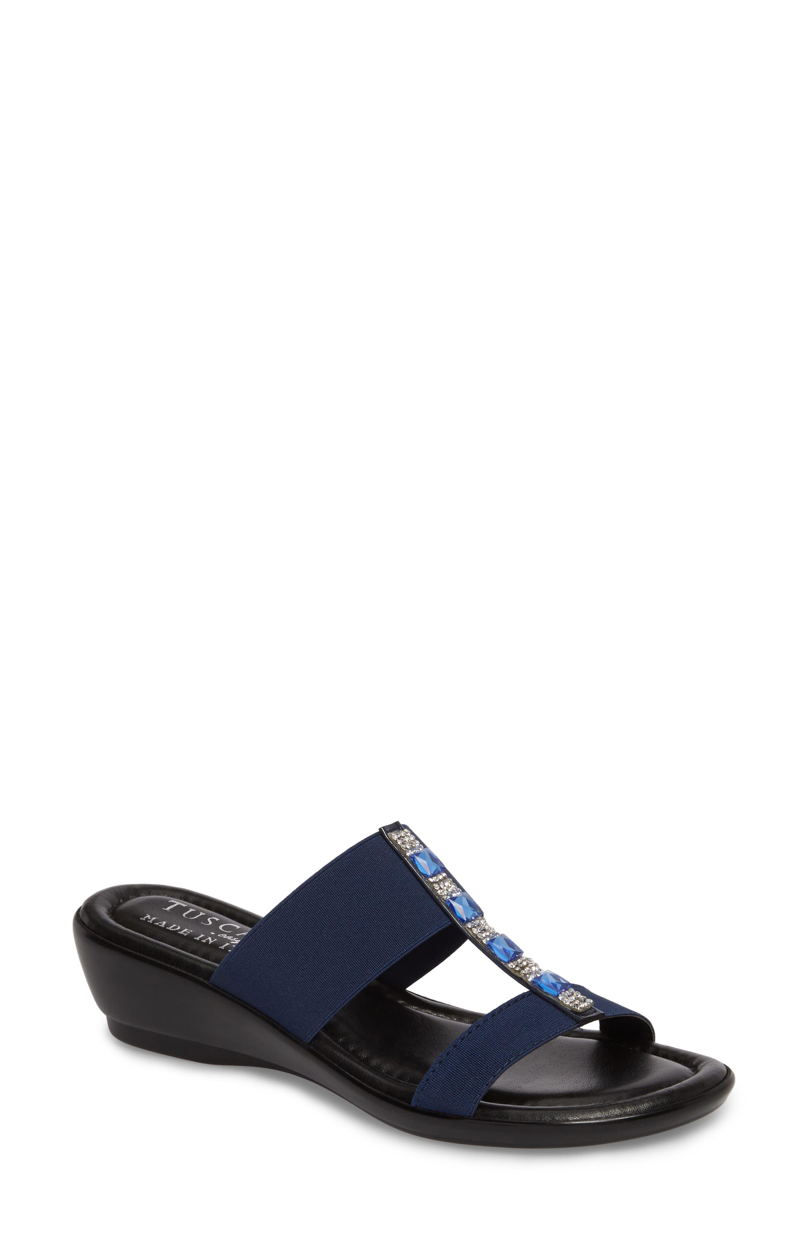 by Easy Street<sup>®</sup> Elba Embellished Slide Sandal,                             Main thumbnail 3, color,