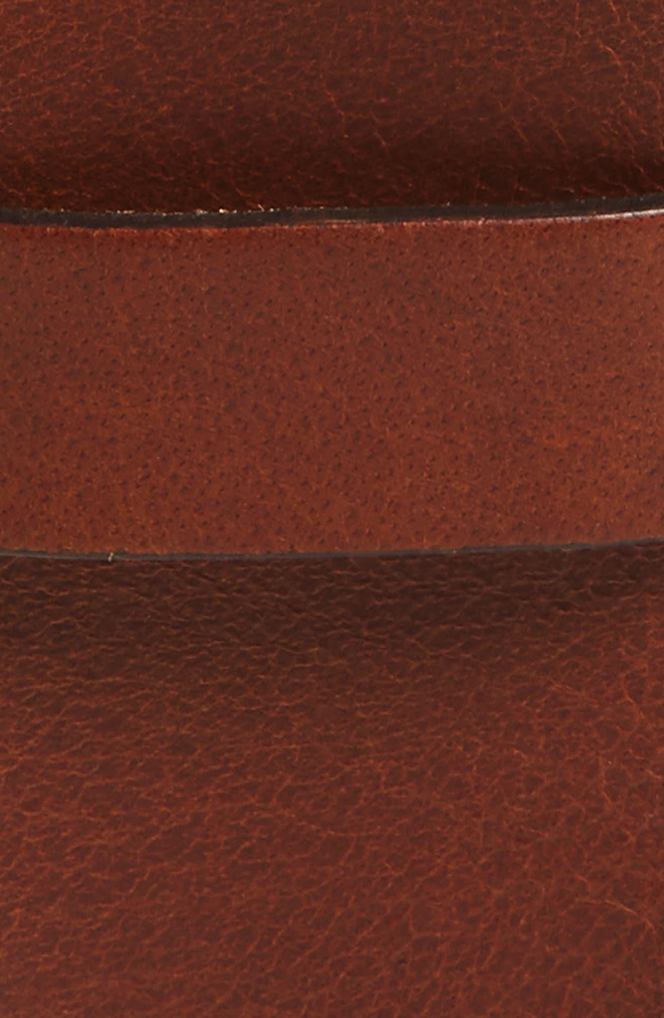 Roller Buckle Leather Belt,                             Alternate thumbnail 2, color,                             211
