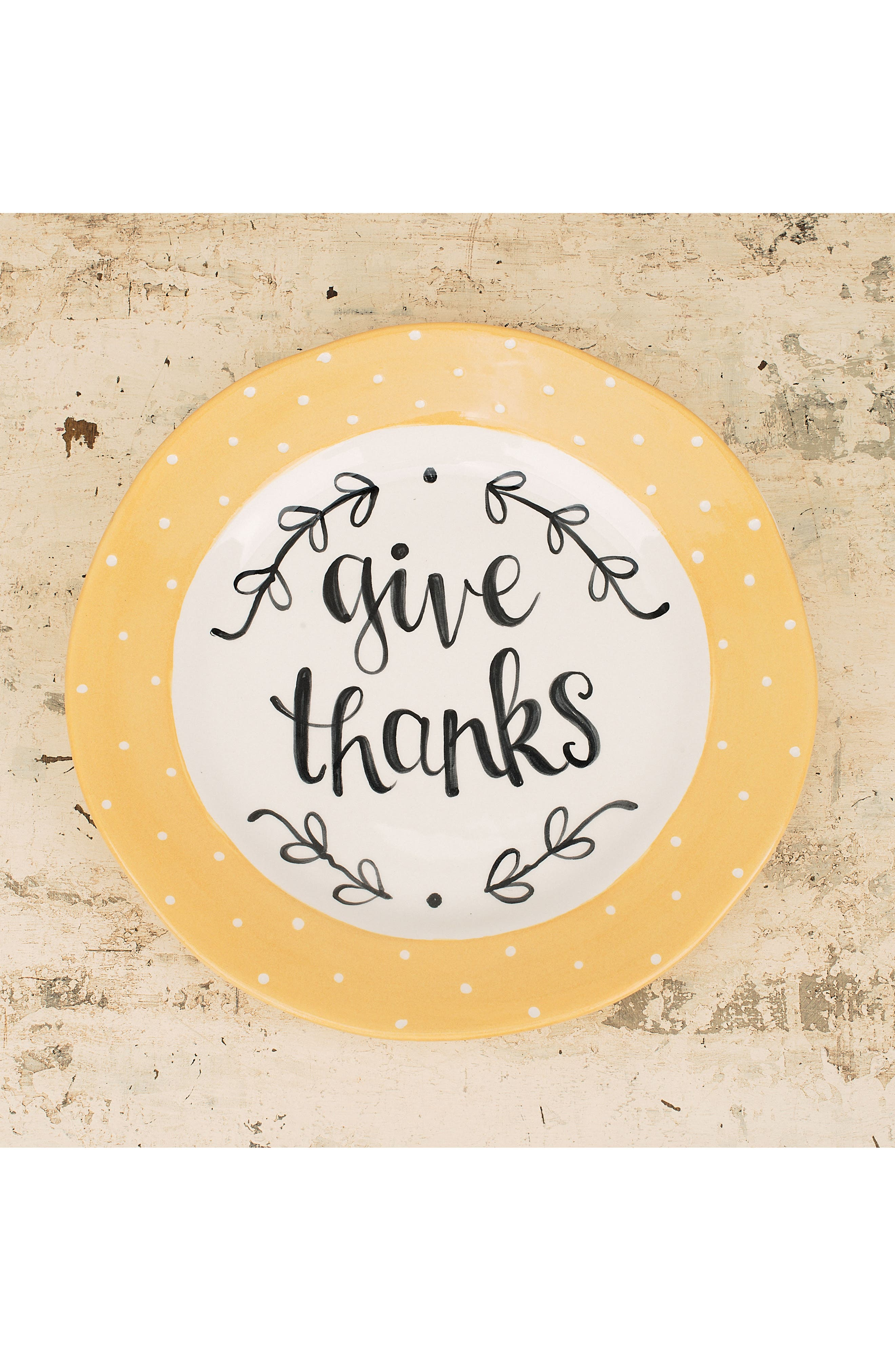 Give Thanks Plate,                             Alternate thumbnail 2, color,                             900