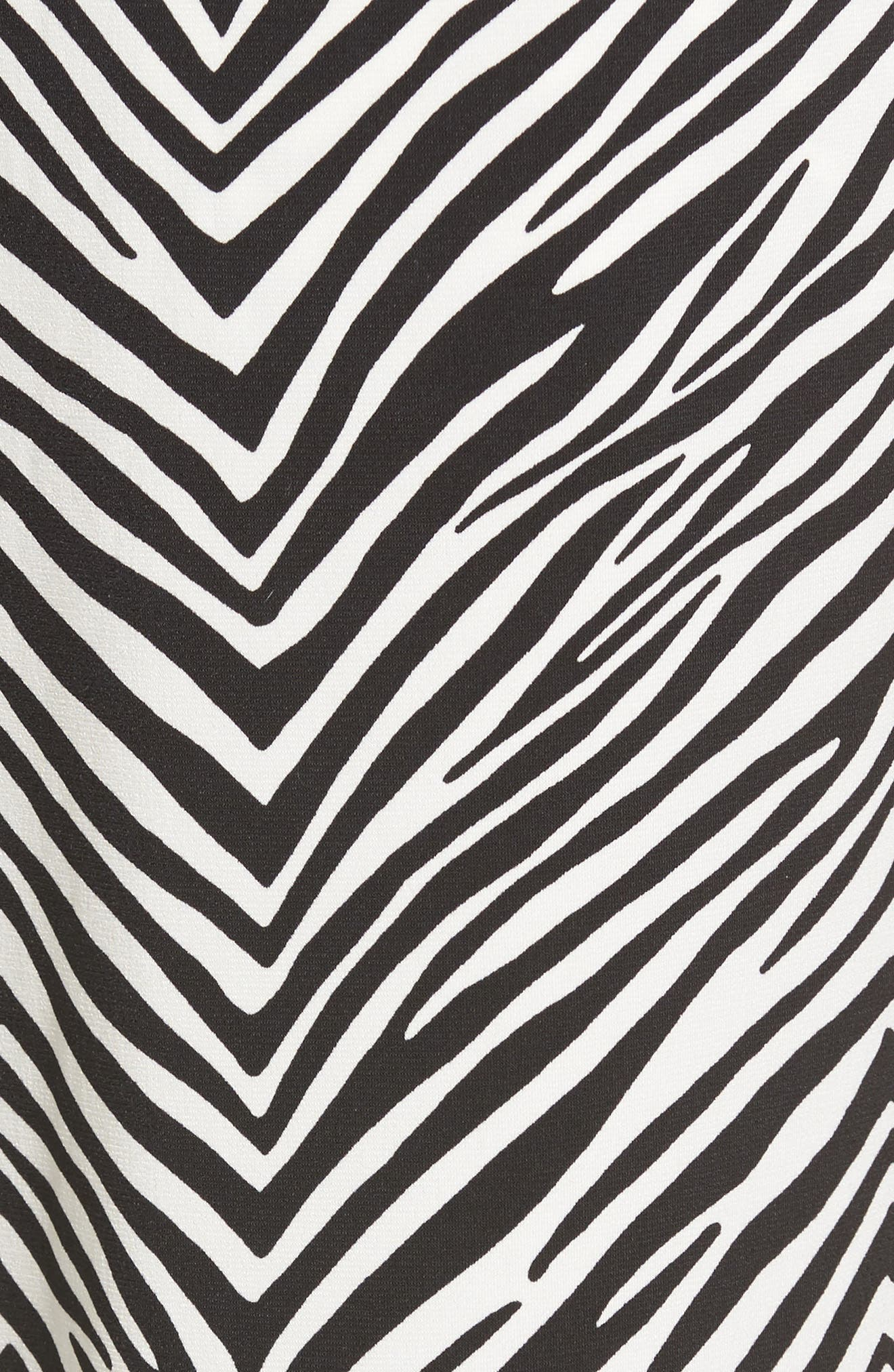 Zebra Print Drawstring Waist Pants,                             Alternate thumbnail 5, color,                             010