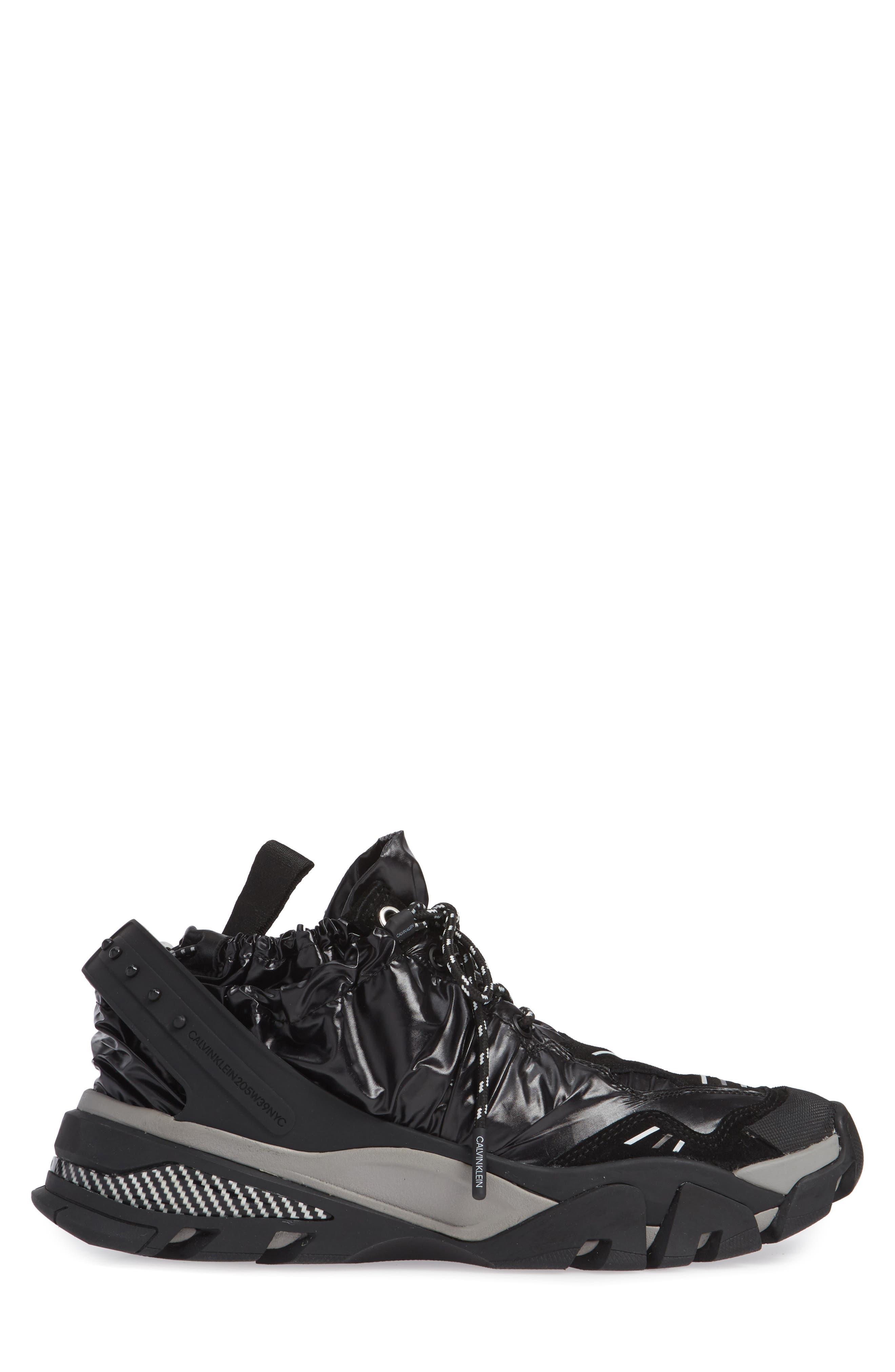 Carsdat 10 Elastic Sneaker,                             Alternate thumbnail 3, color,                             BLACK
