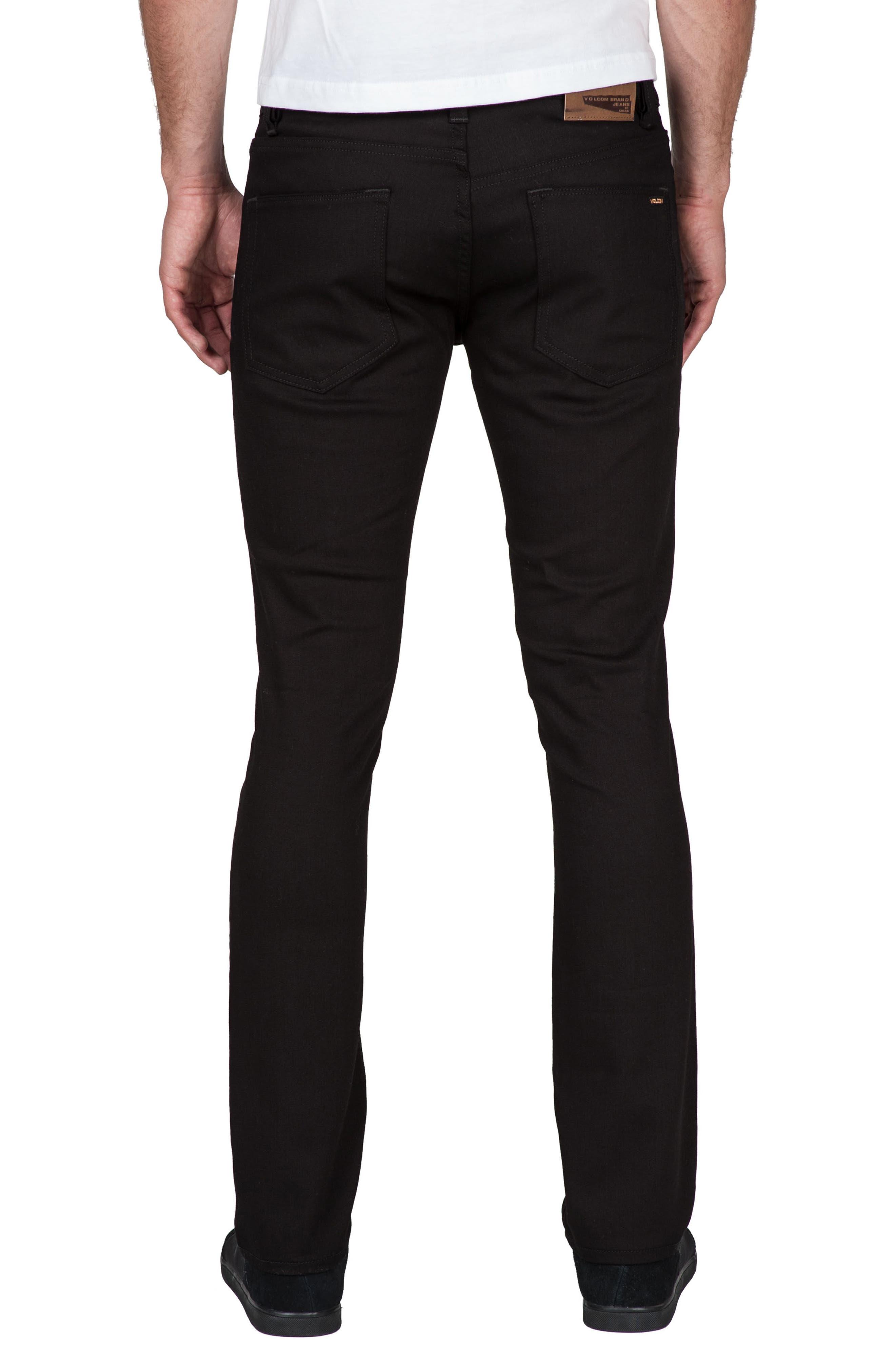 2x4 Slim Straight Leg Jeans,                             Alternate thumbnail 2, color,                             BLACK BLACK