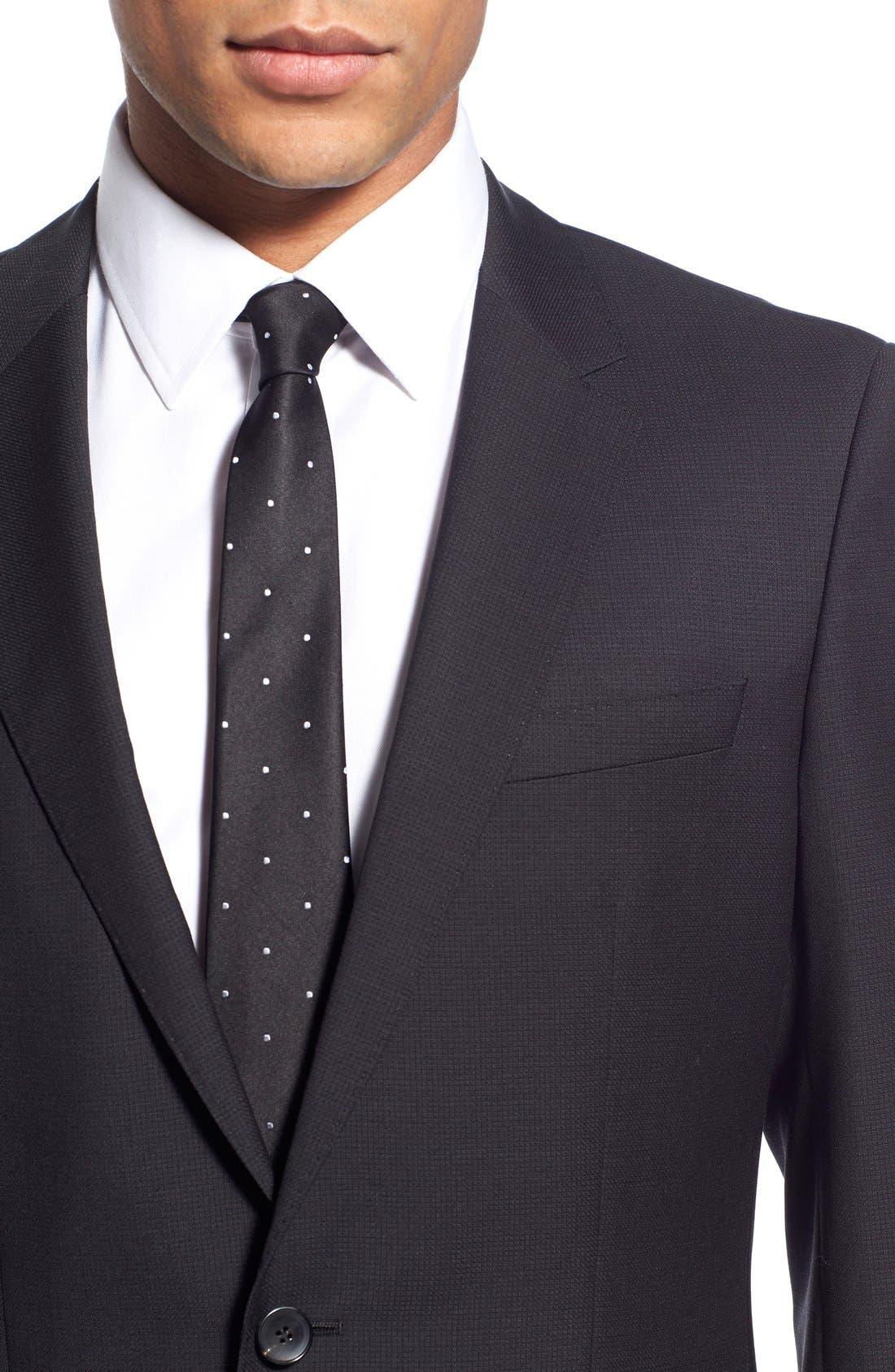 'Huge/Genius' Trim Fit Solid Wool Suit,                             Alternate thumbnail 14, color,                             BLACK