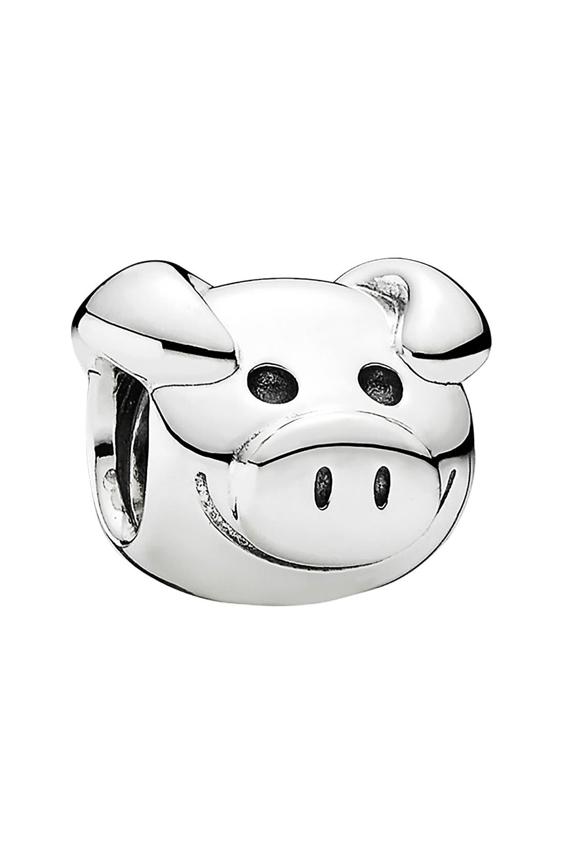 'Playful Pig' Charm, Main, color, 040