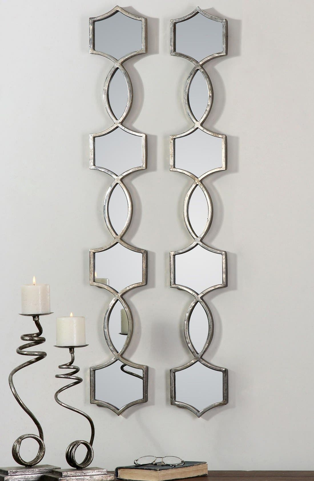 'Vizela' Metal Wall Mirrors,                             Alternate thumbnail 3, color,