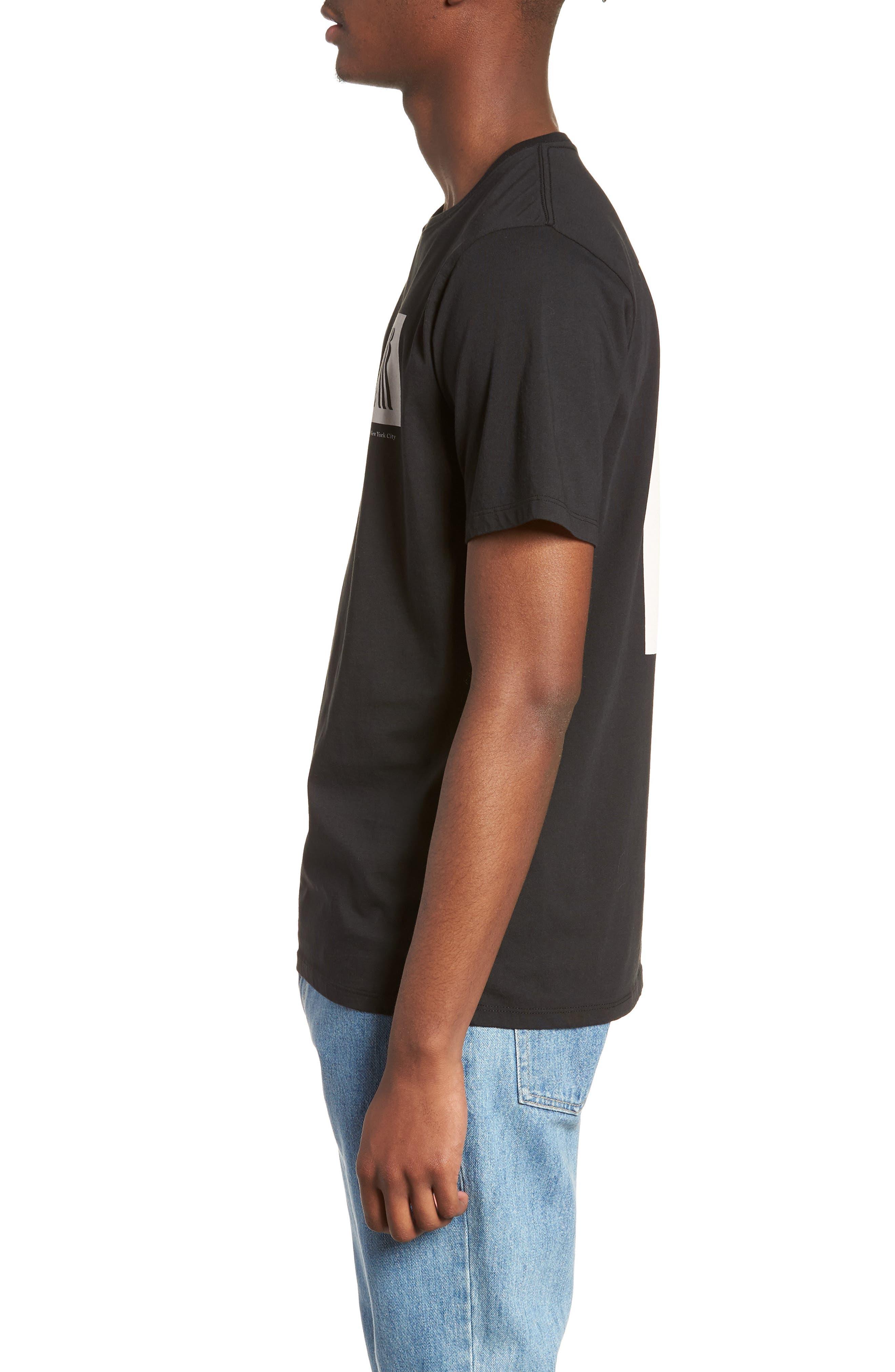 Walking Man T-Shirt,                             Alternate thumbnail 3, color,                             BLACK