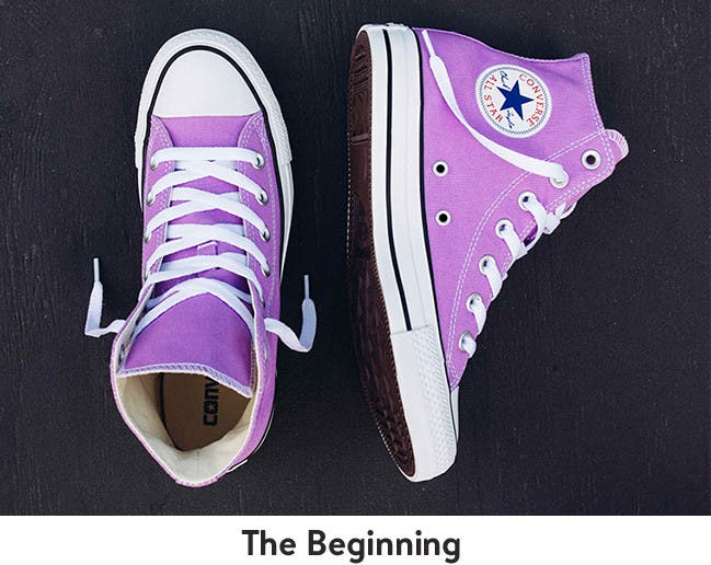 The Beginning: Converse Chuck Taylor All Stars for women.