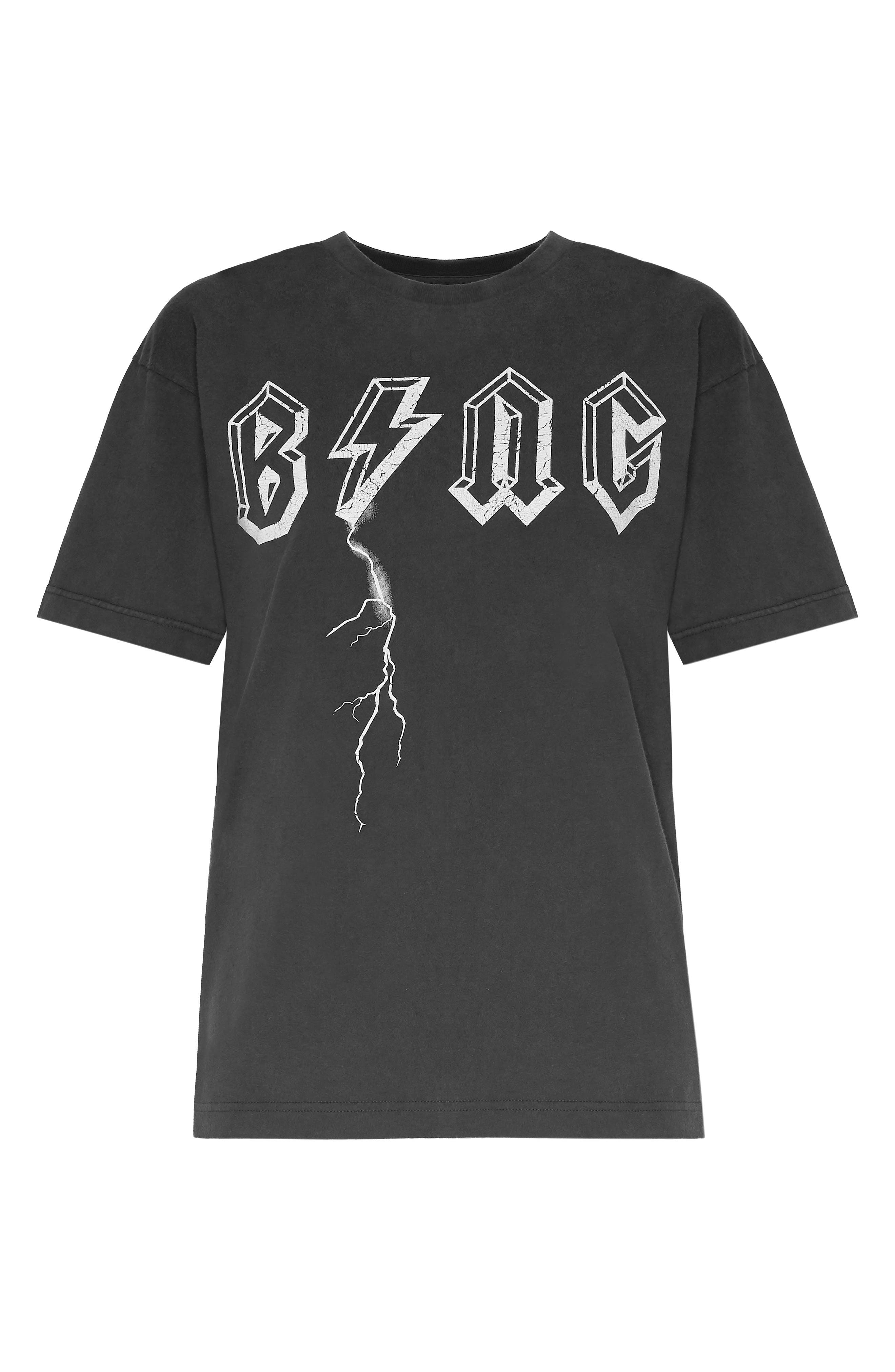 ANINE BING,                             Bing Bolt Tee,                             Alternate thumbnail 3, color,                             BLACK